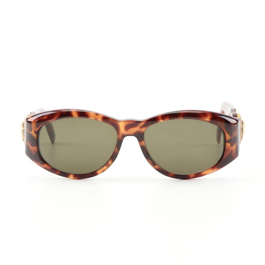 a8f684bac33a5 Gianni Versace 424M Tortoiseshell Style Medusa Head Sunglasses