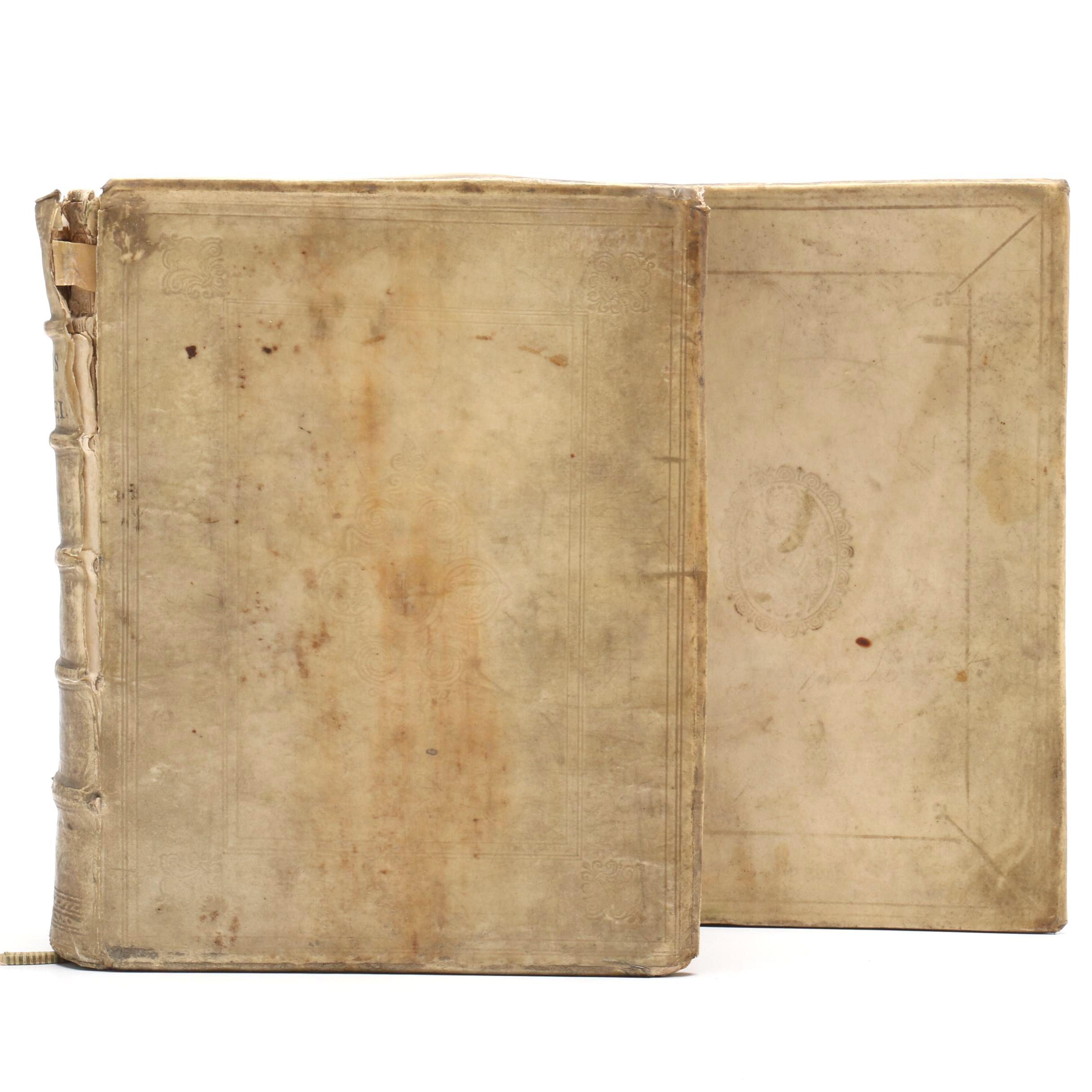 "1661 Augustine ""De Civitate Dei"" Volume II with 1681 ""Pampiere Wereld"""
