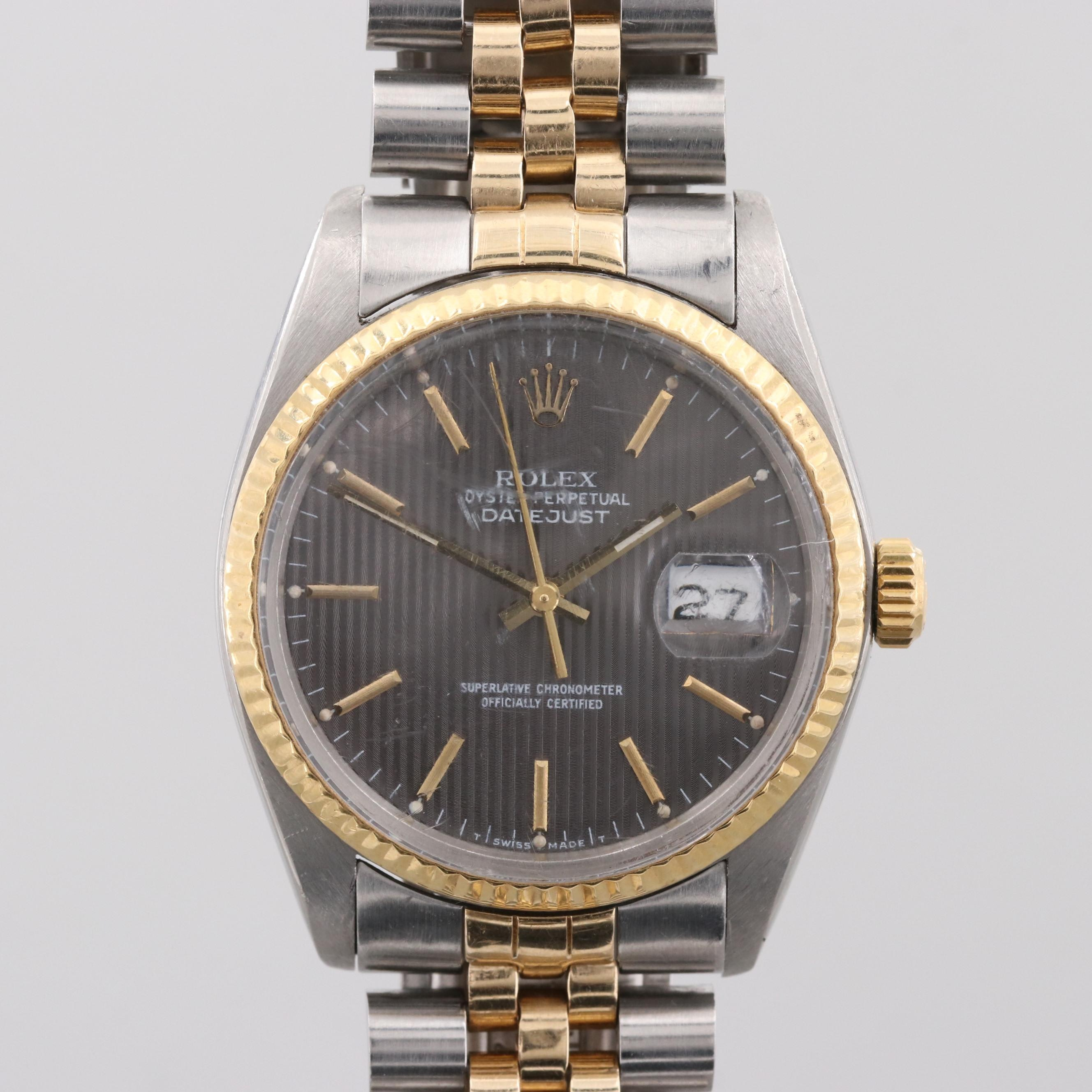 Rolex Datejust 18K Yellow Gold and Stainless Steel Wristwatch, 1979