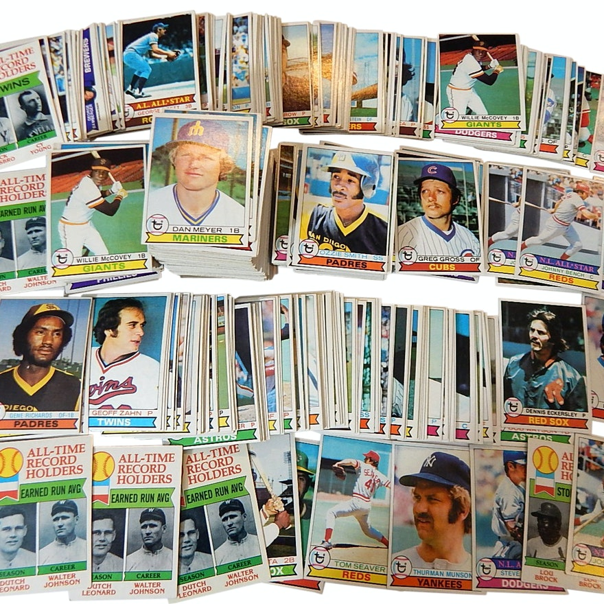 1979 Topps Baseball Card Lot Wozzie Smith Rookie 116