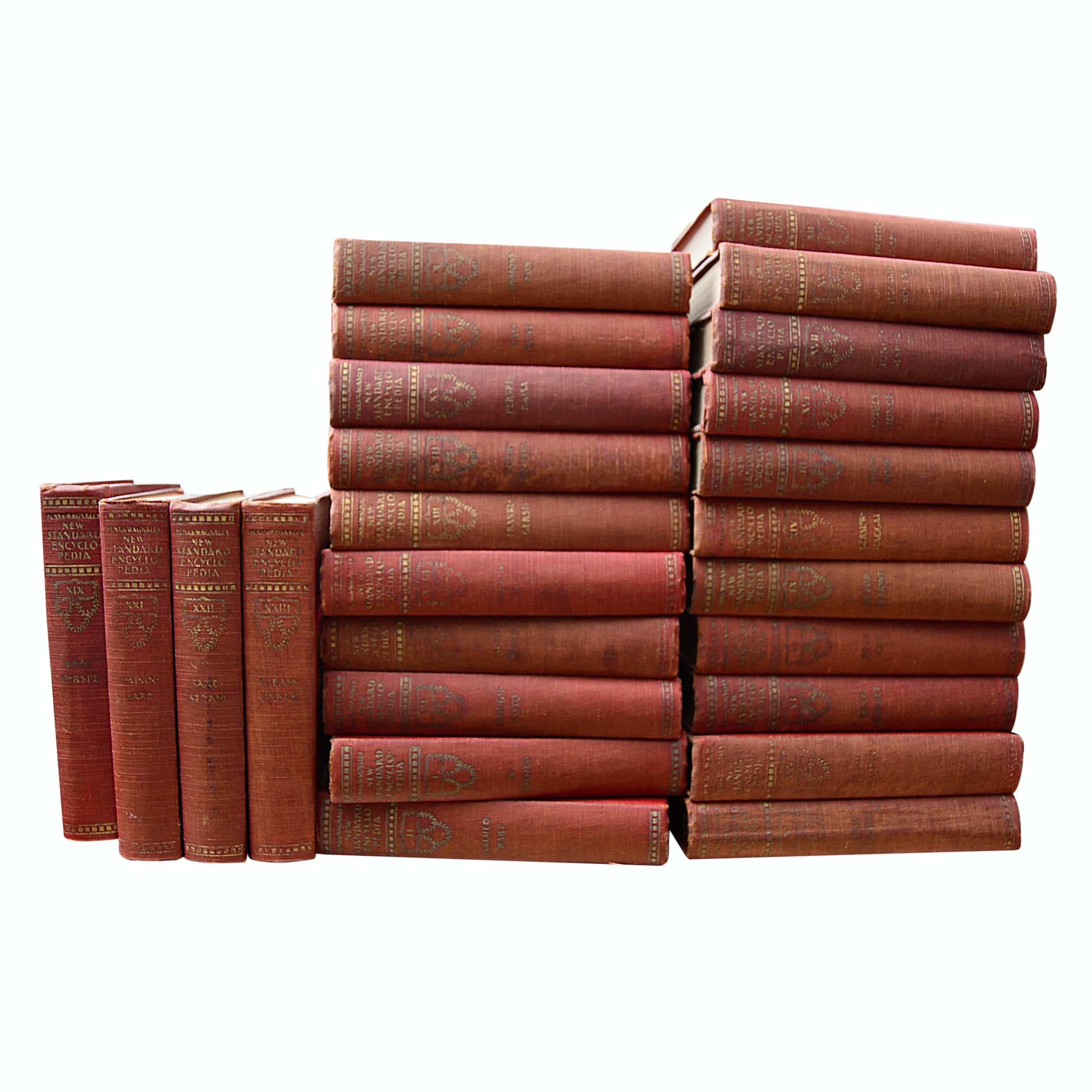 """Funk & Wagnalls Encyclopedia"" 25 Volume Set, circa 1931"