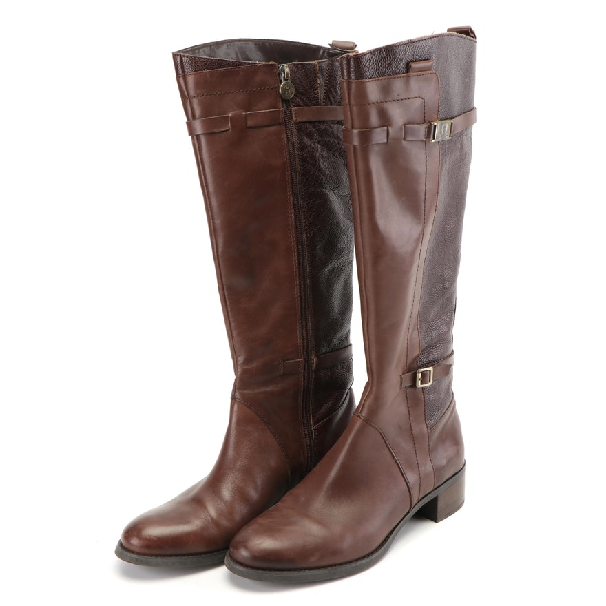 75acff39174 Women's Etienne Aigner Colton Tall Brown Leather Riding Boots
