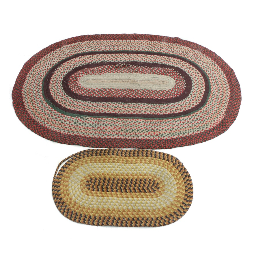 Handmade Oval Rag Rugs From The Old