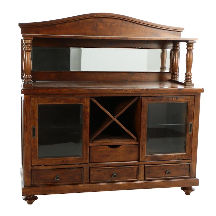 Woodbridge Furniture Birch Mirror Back Buffet Ebth