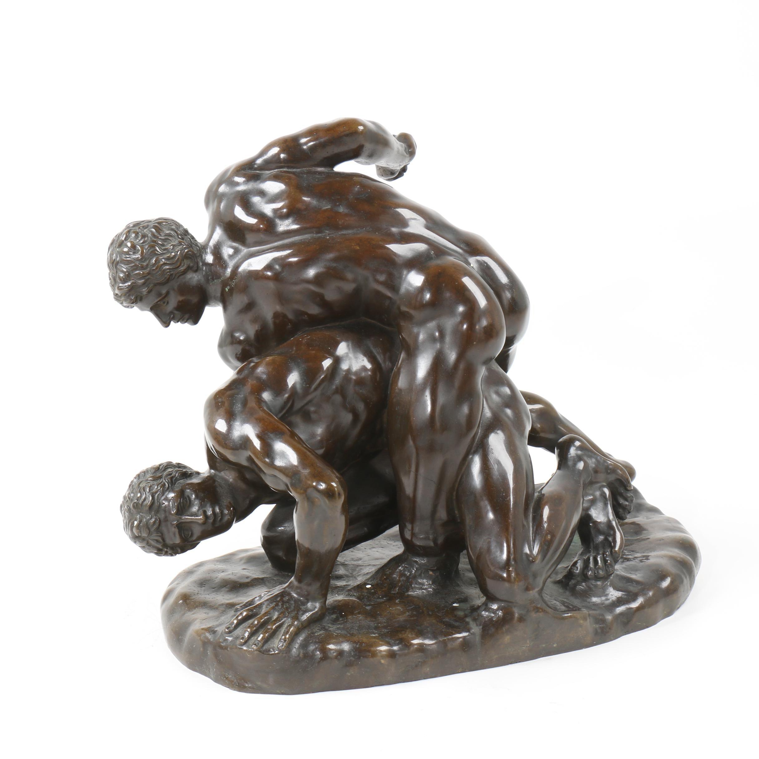 "Brass Sculpture after ""The Wrestlers"""