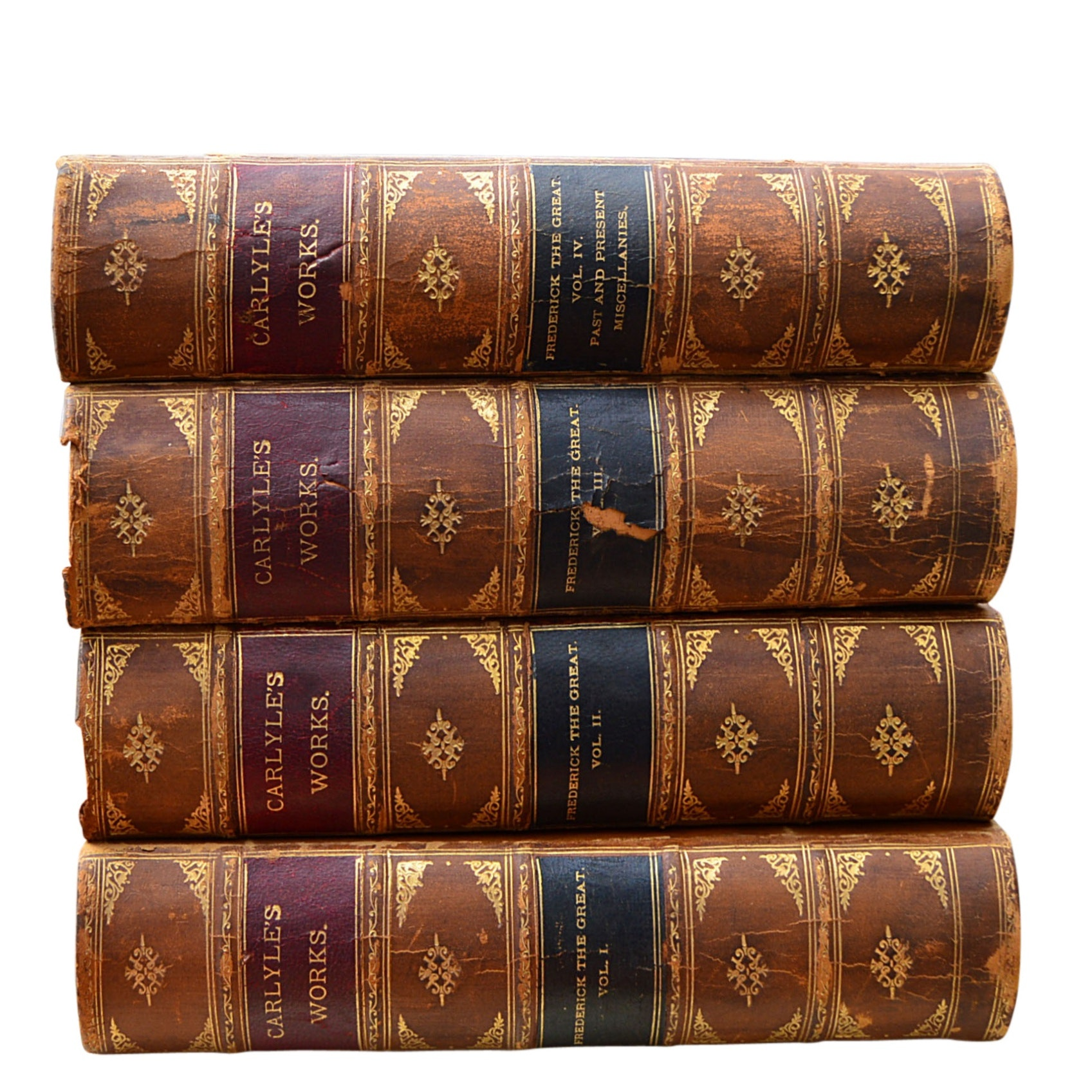 """""""Carlyle's Works"""" 4 Volume Partial Set, 19th Century"""