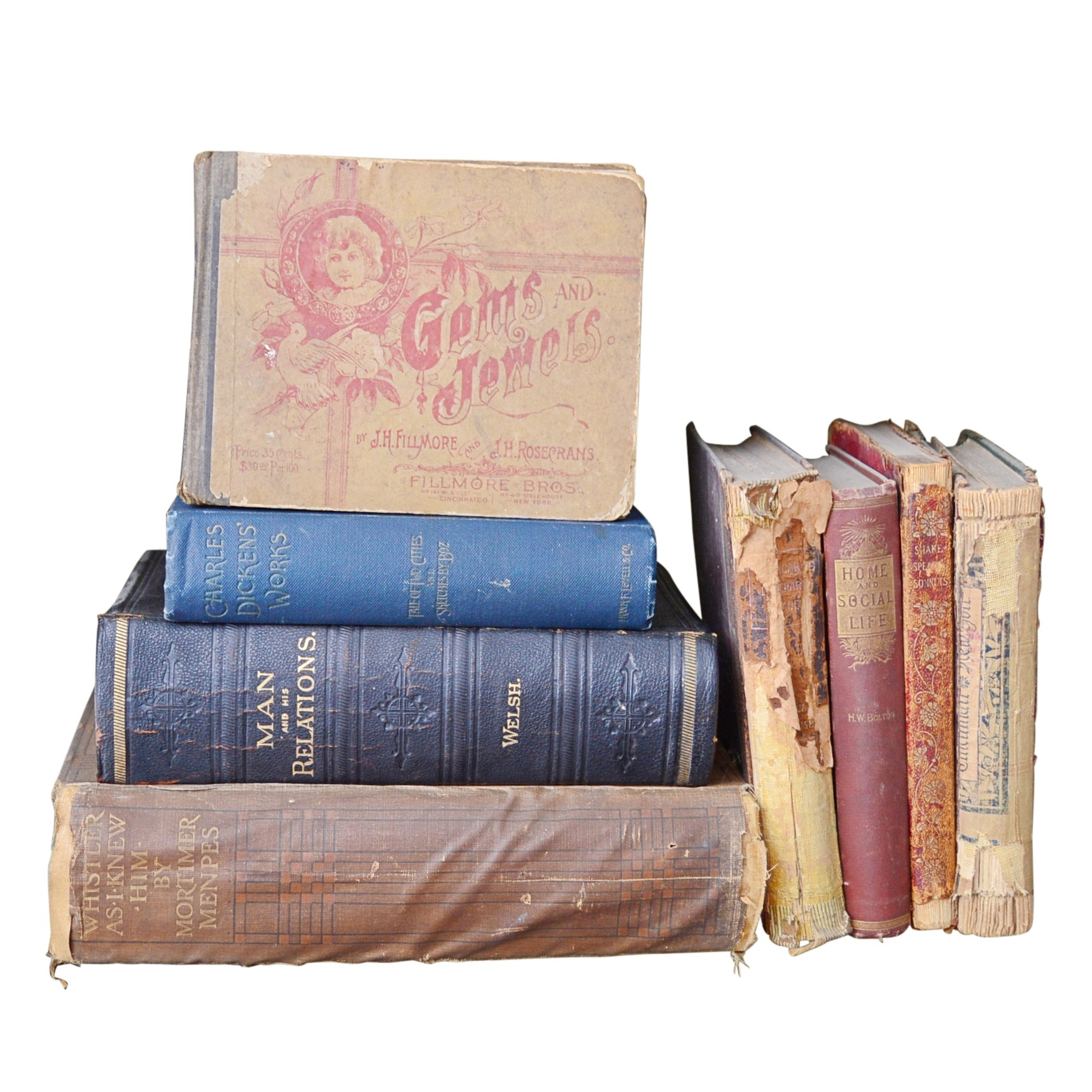 19th Century Books with Charles Dickens and More