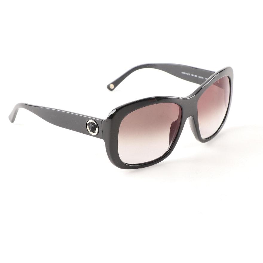 06474e85e11 Versace 4212 Black Medusa Head Prescription Sunglasses
