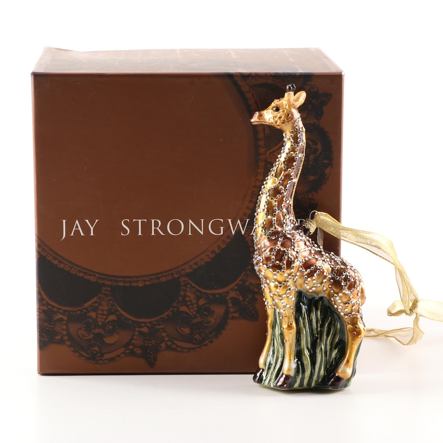 Jay Strongwater Giraffe Glass Ornament