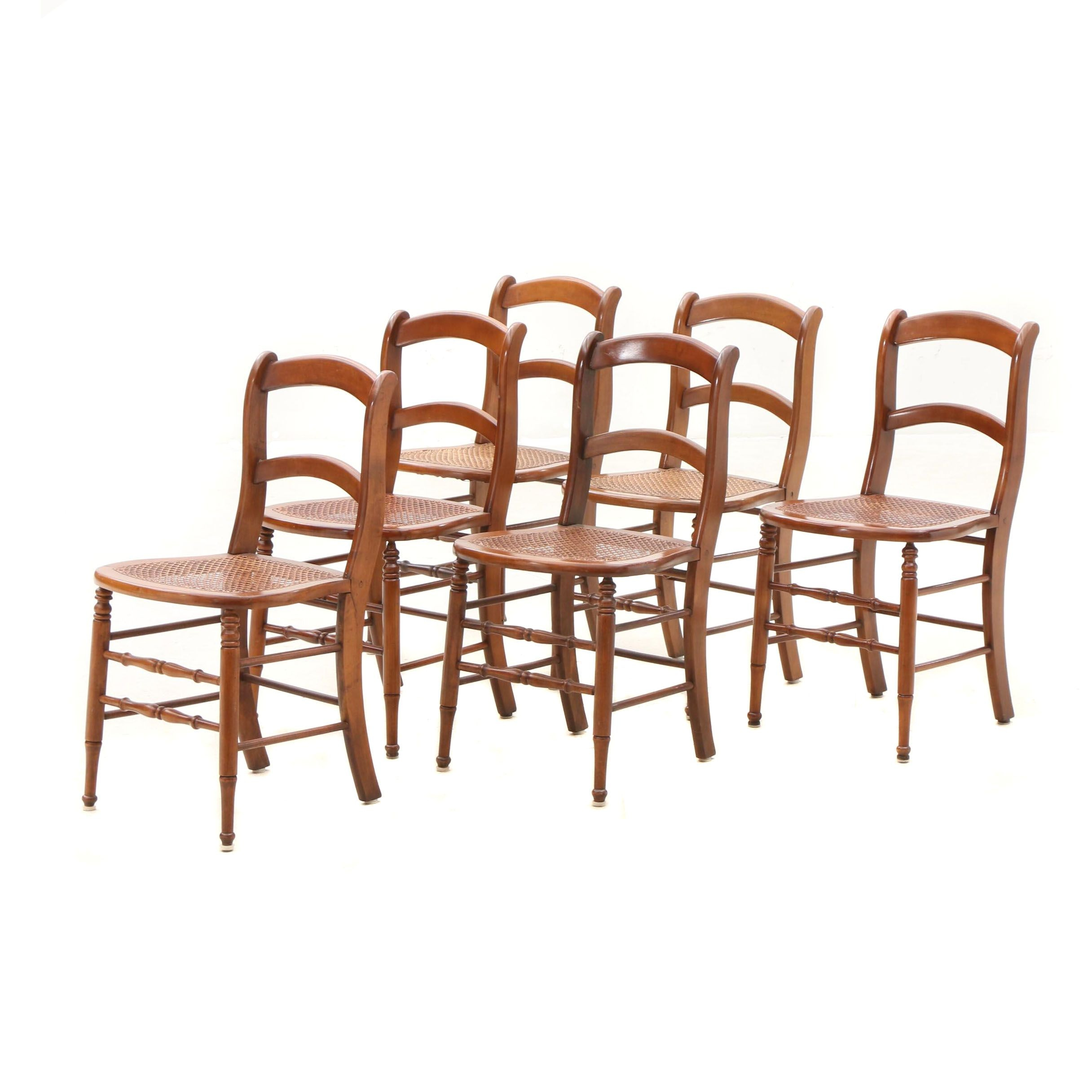 Cane and Poplar Side Chairs