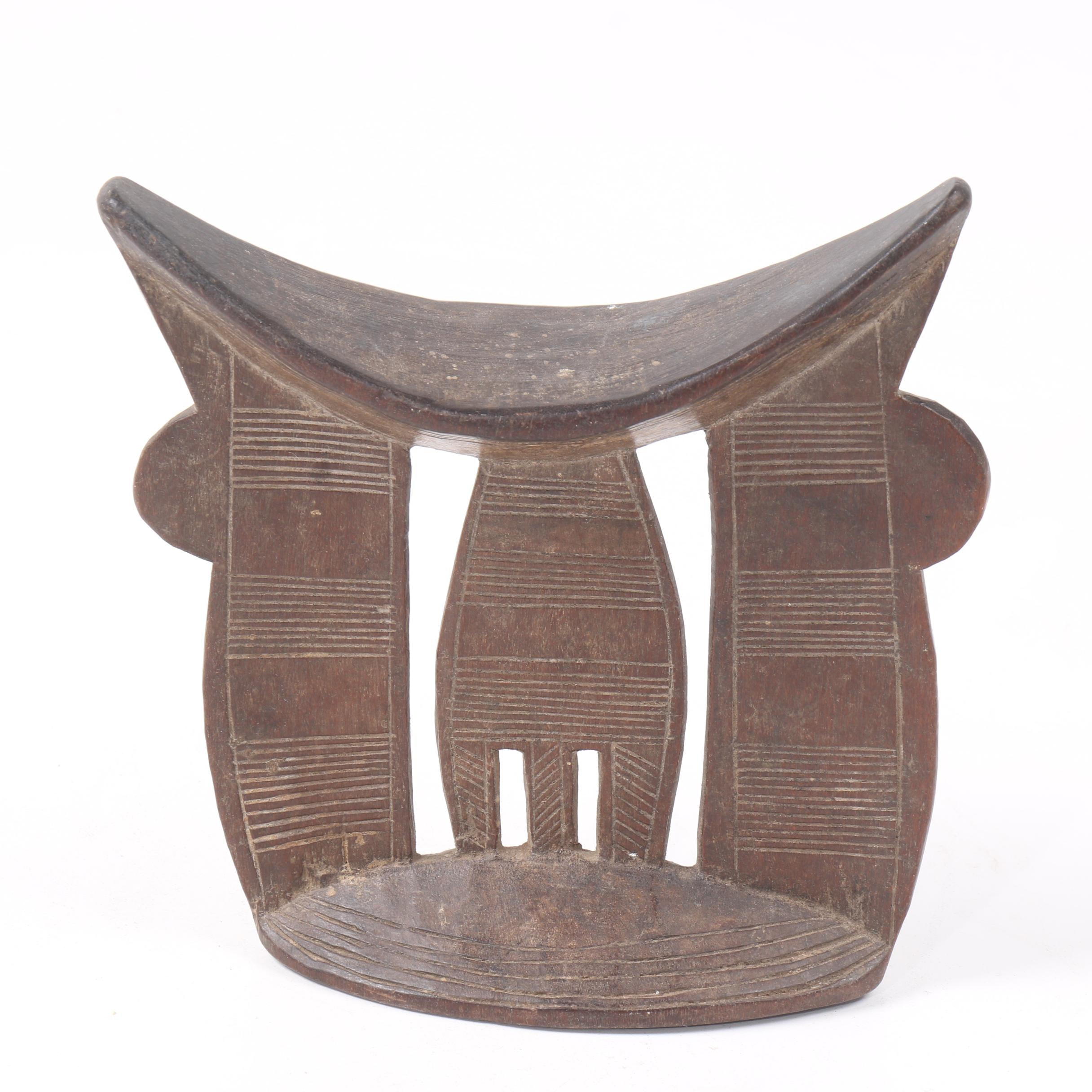 Ethiopian Carved Wood Headrest