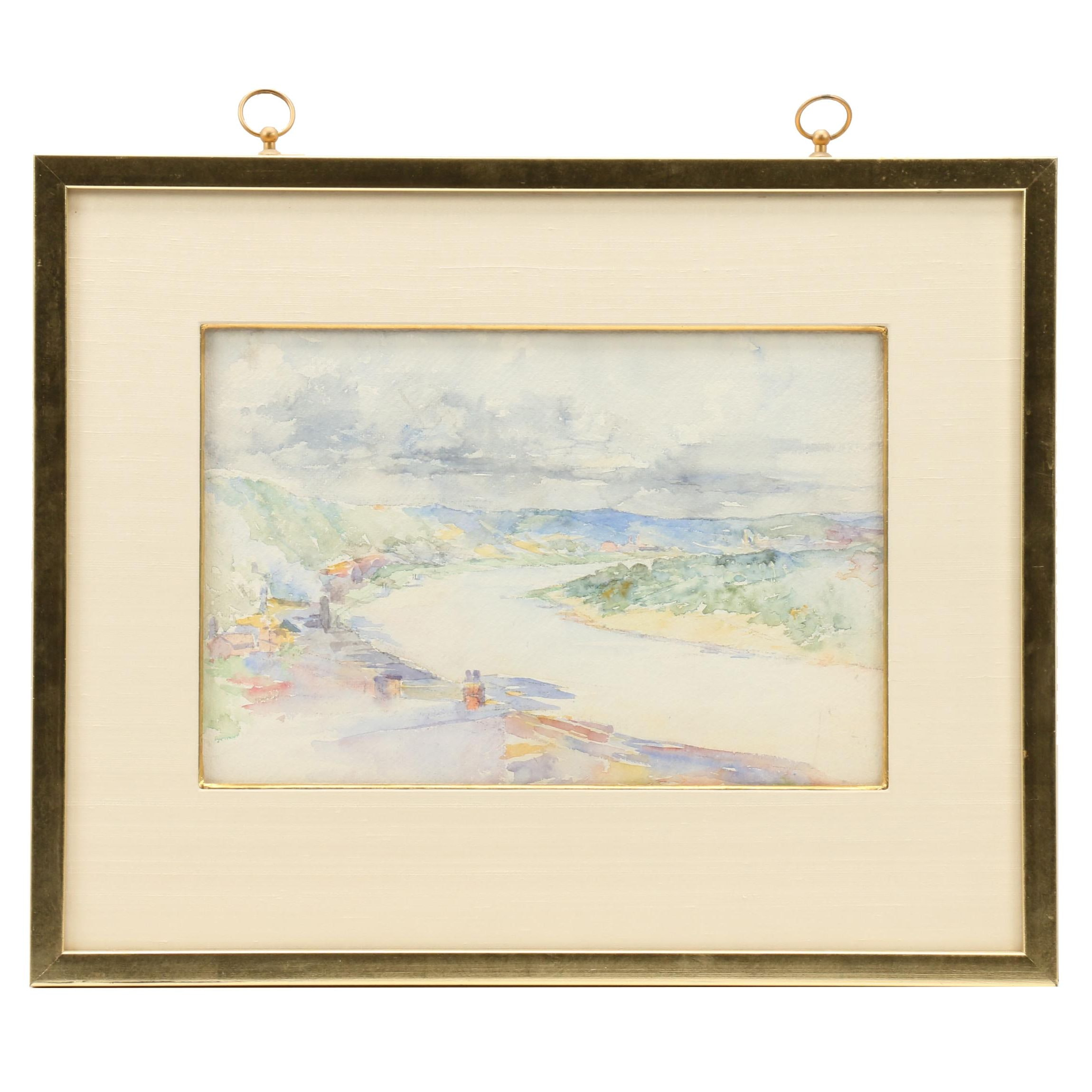 Landscape Watercolor Paintings in Double Sided Frame
