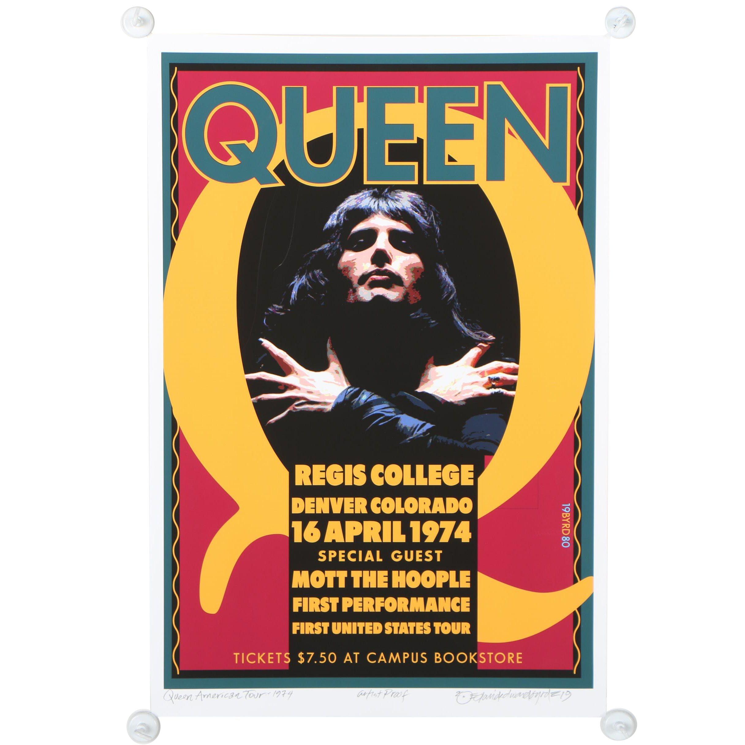 "David Edward Byrd Giclée ""Queen at Regis College, Denver, 1974"""