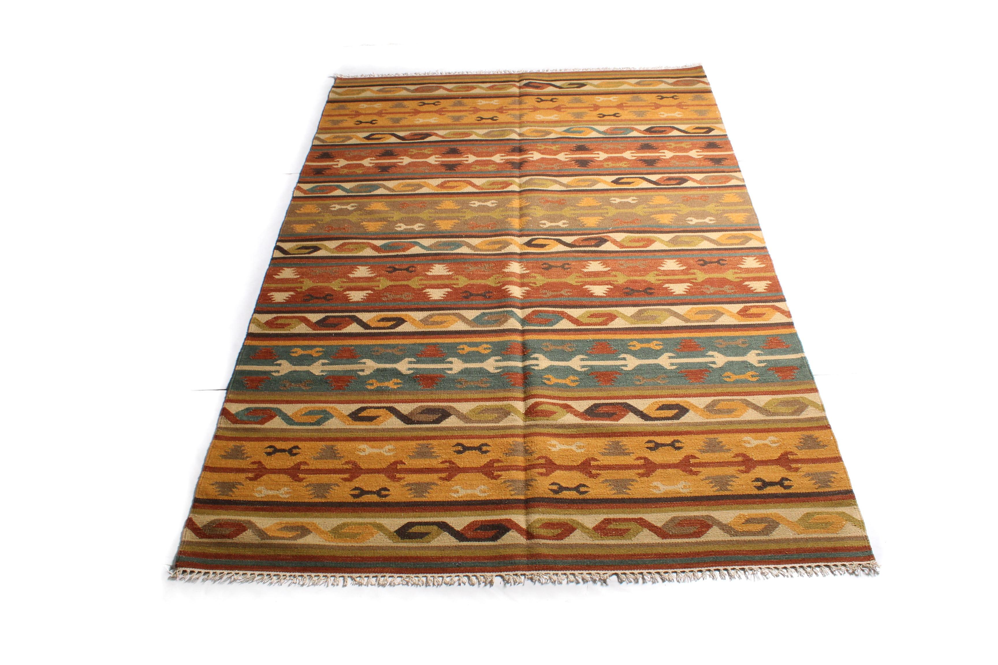 5'11 x 9'1 Handwoven Turkish Kilim Rug
