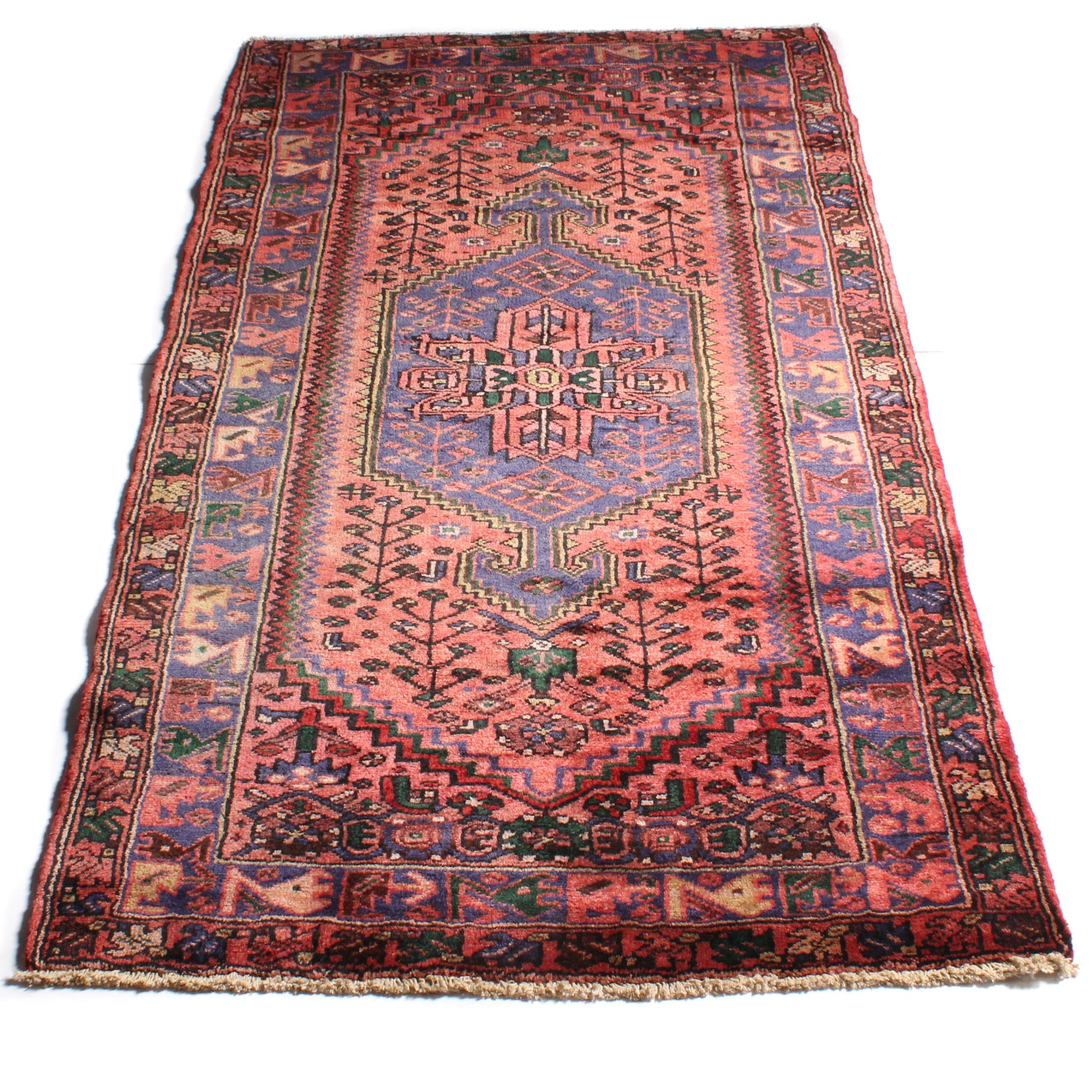 3'6 x 6'9 Hand-Knotted Persian Qoltuq Wool Rug