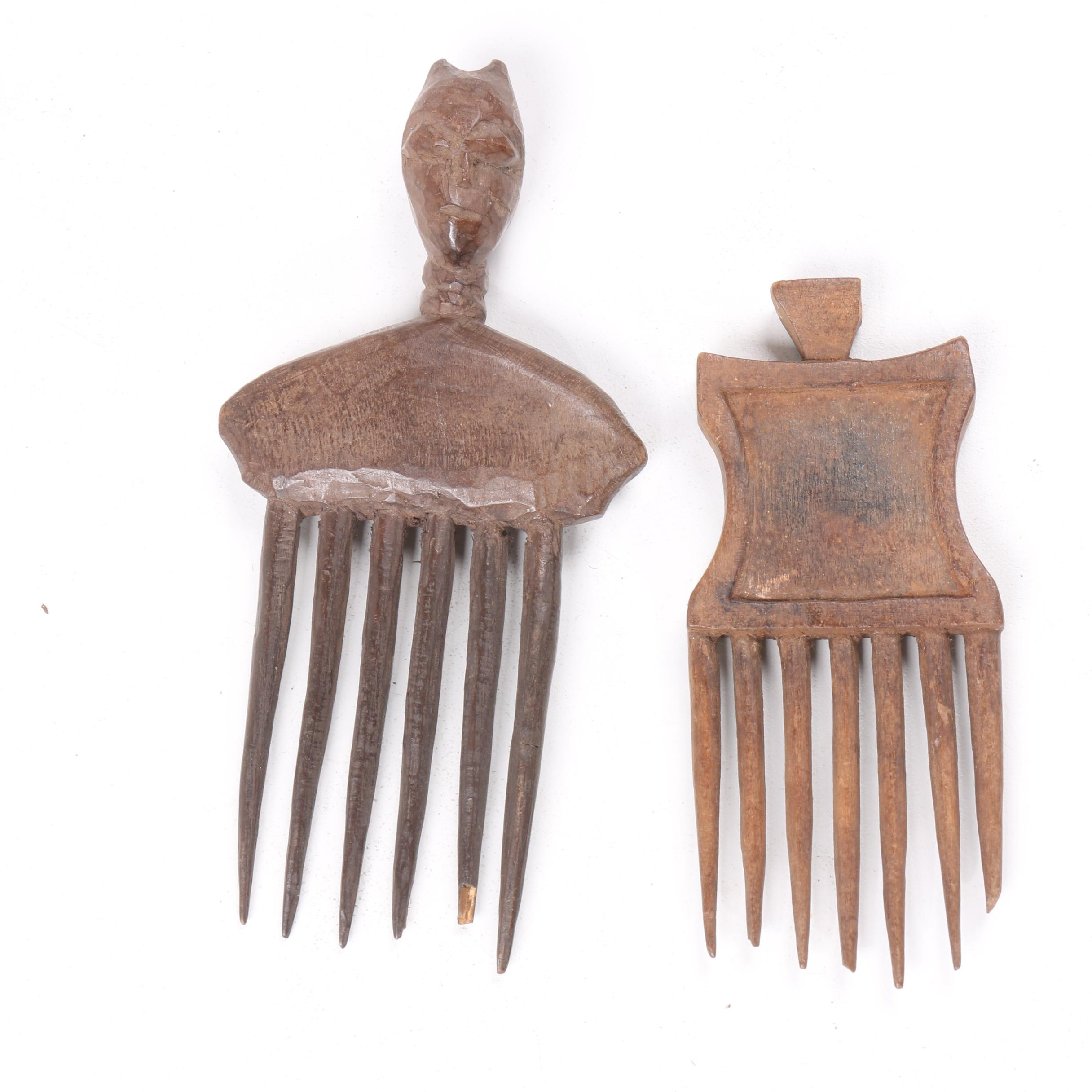 20th Century Ornamental Combs from Côte d'Ivoire