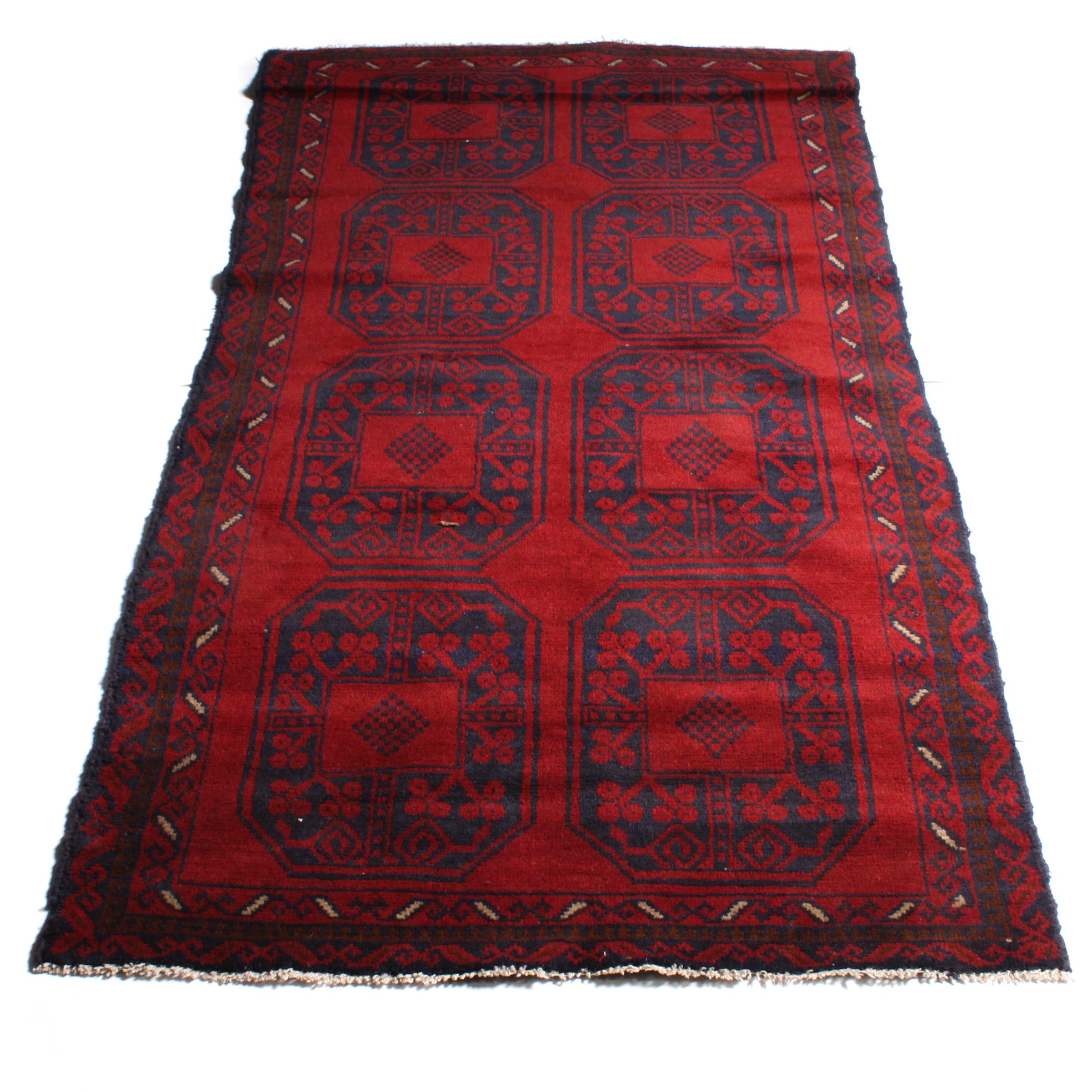 3'4 x 6'1 Hand-Knotted Afghan Bahor Rug