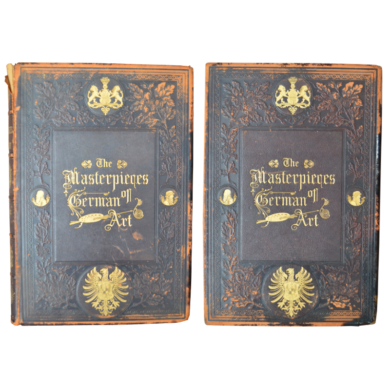 """""""The Masterpieces of German Art"""" Two Volumes by J. Eugene Reed, 19th Century"""