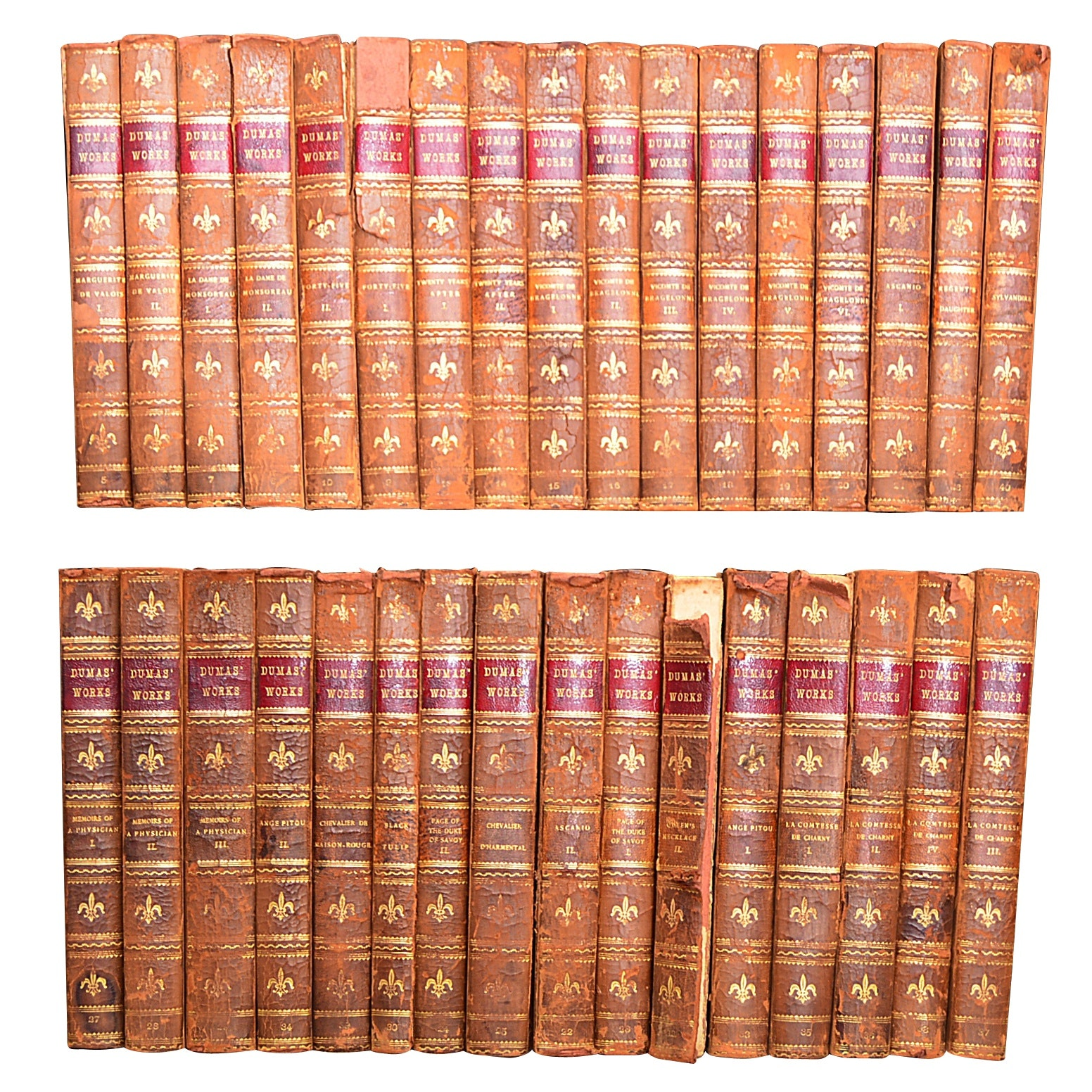 """Works"" 33-Volume Set by Alexandre Dumas, circa 1895"