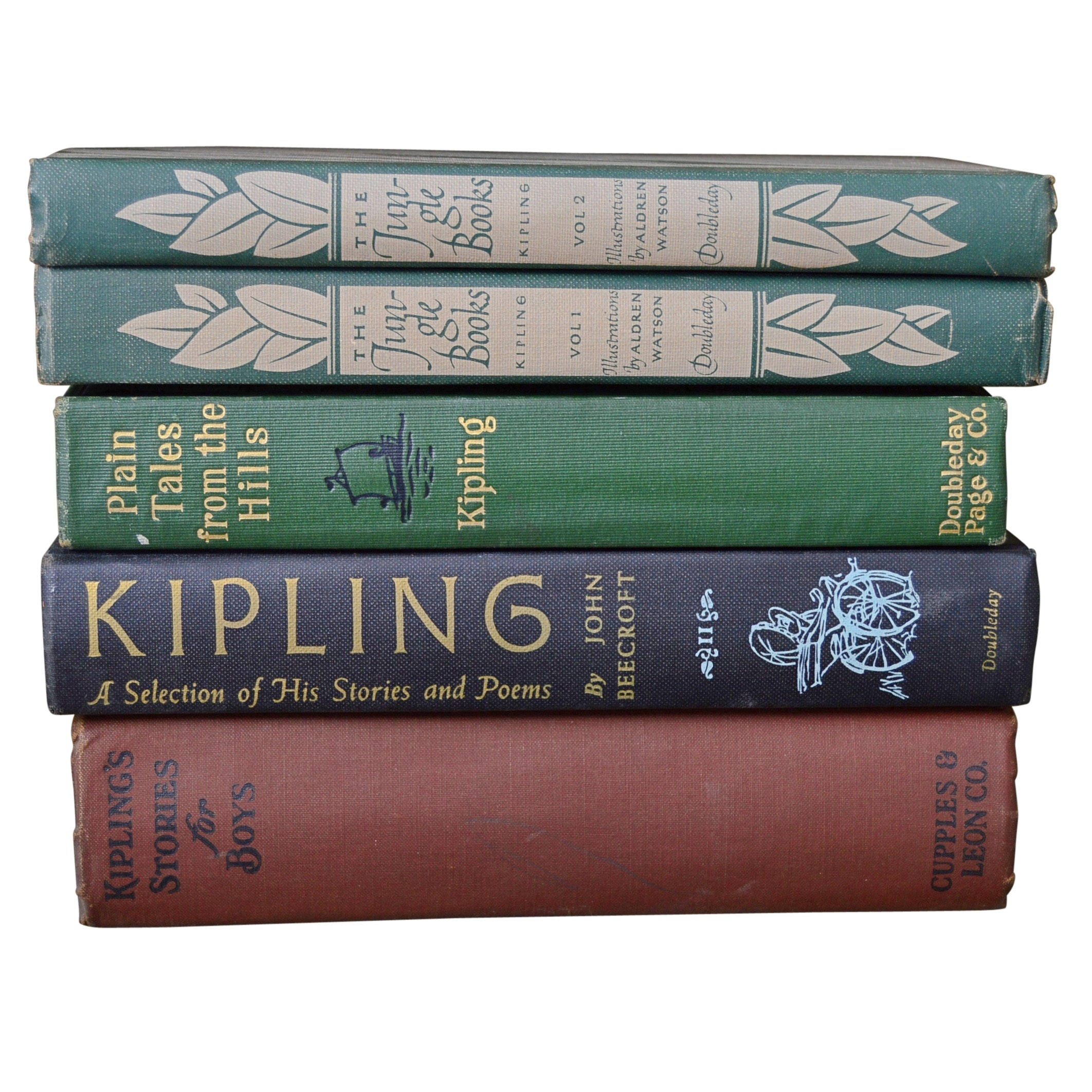 "Rudyard Kipling Books with ""The Jungle Books"" Volumes 1 and 2"