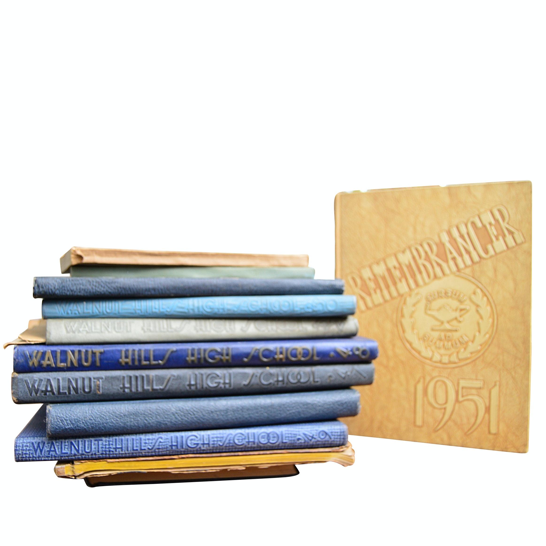 Vintage Cincinnati Walnut Hills and Woodward High School Yearbooks, 1918-1952