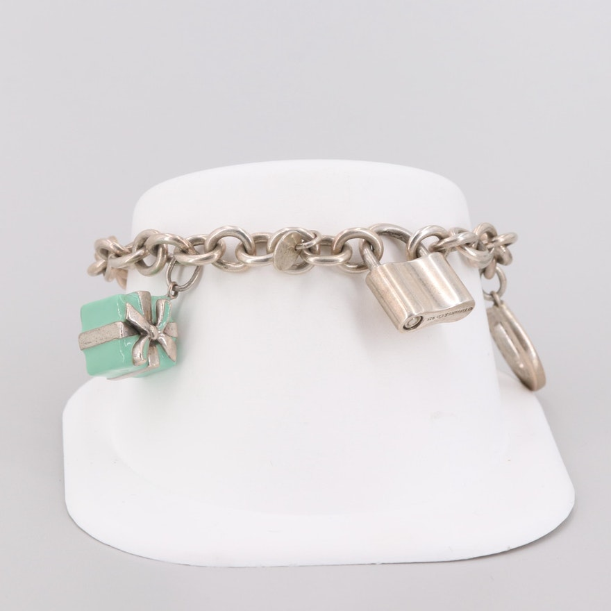 1756f9a02 Tiffany & Co. Sterling Silver Enamel Charm Bracelet : EBTH
