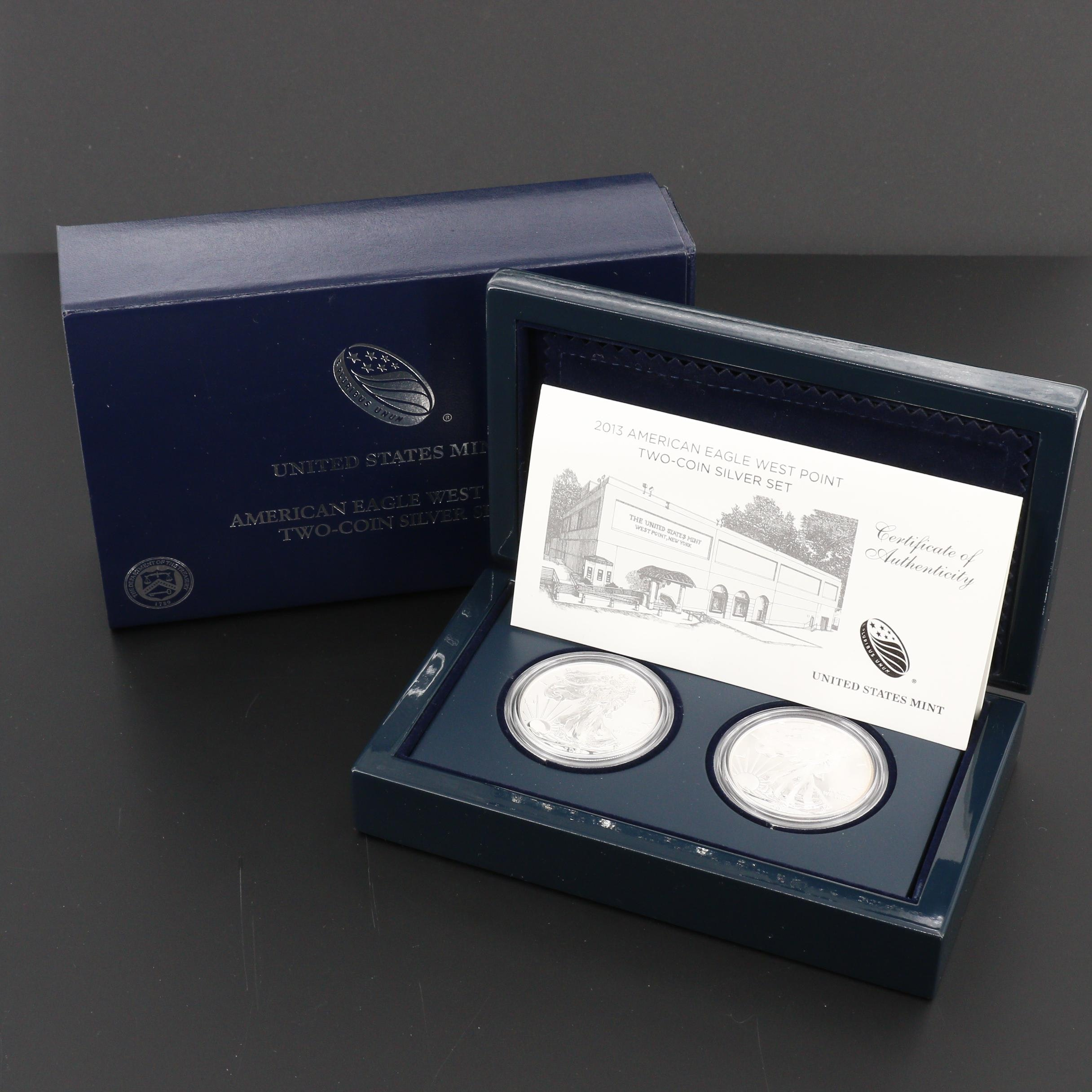 American Eagle West Point Silver Dollar Coin Set