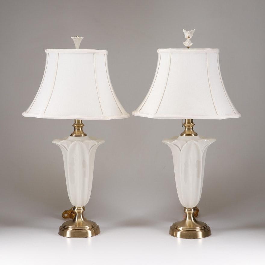 Lenox Lighting For Quoizel Porcelain Table Lamps