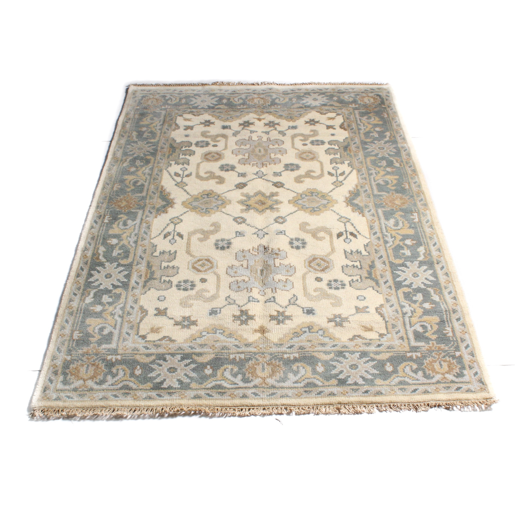4'0 x 6'0 Hand-Knotted Indo-Turkish Oushak Rug