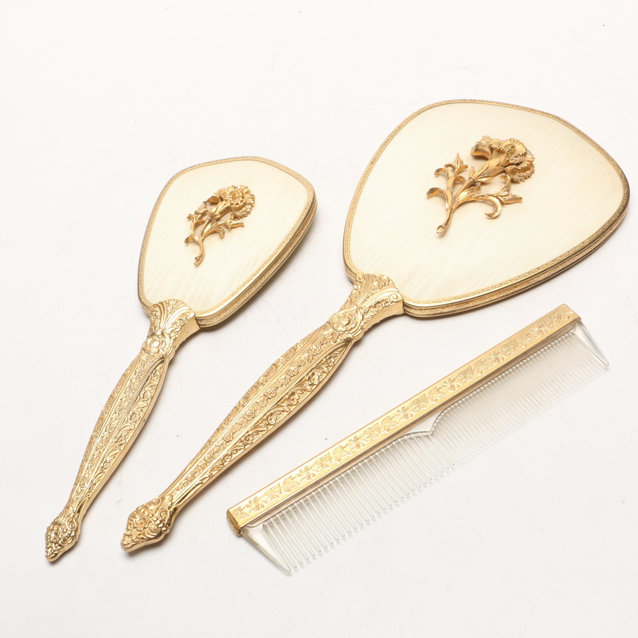 Gold Plated Vanity Set
