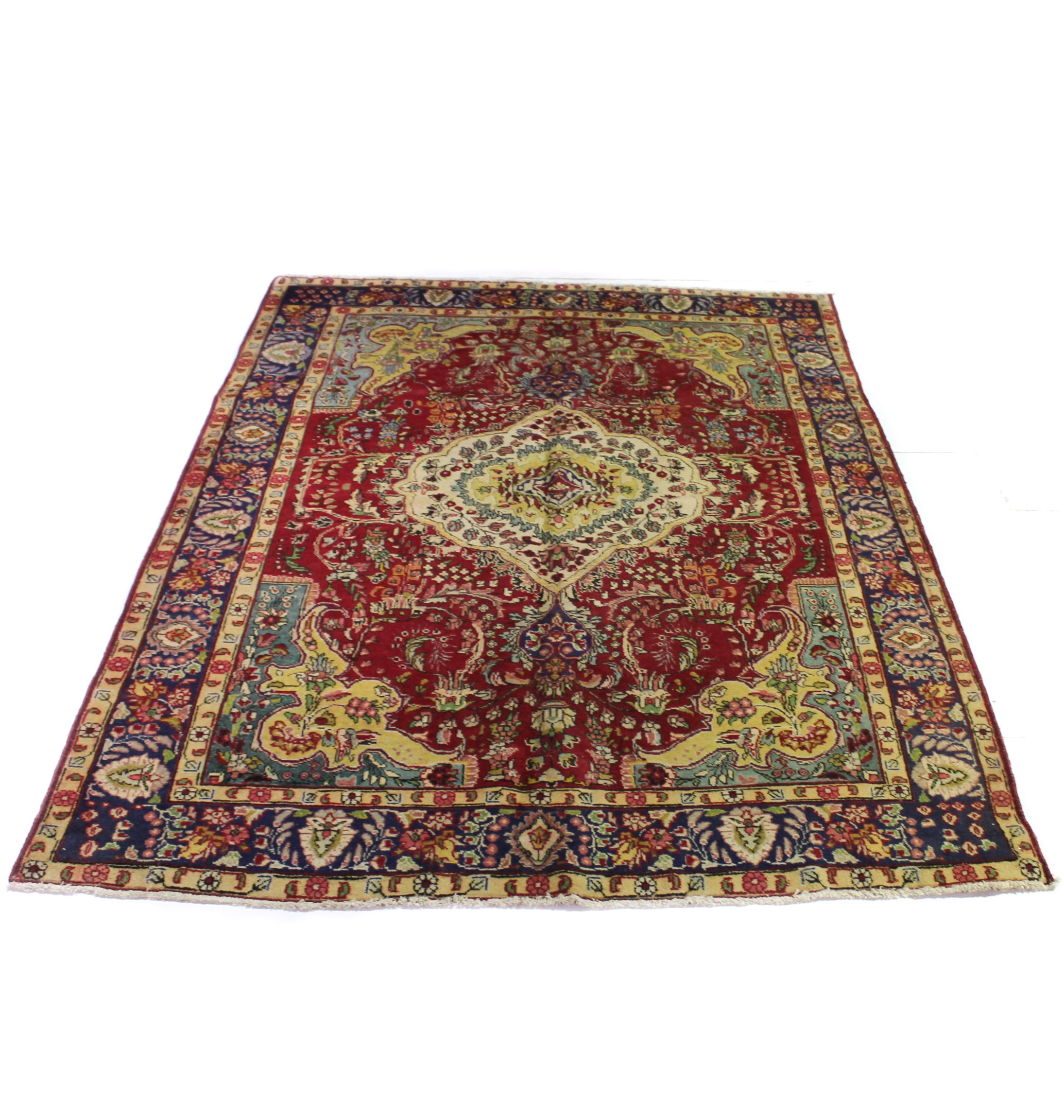 6'6 x 9'2 Hand-Knotted Persian Tabriz Rug