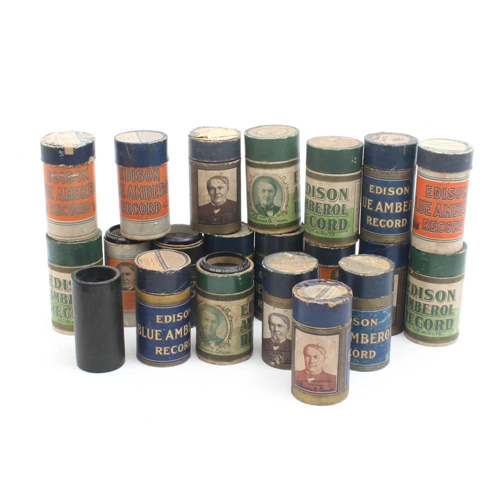 Edison Amberol Cylinder Records, circa 1915