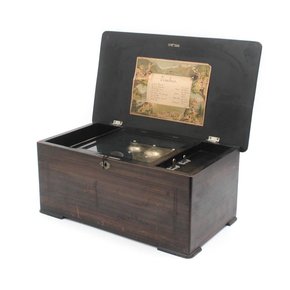 Late 19th Century Swiss Music Box
