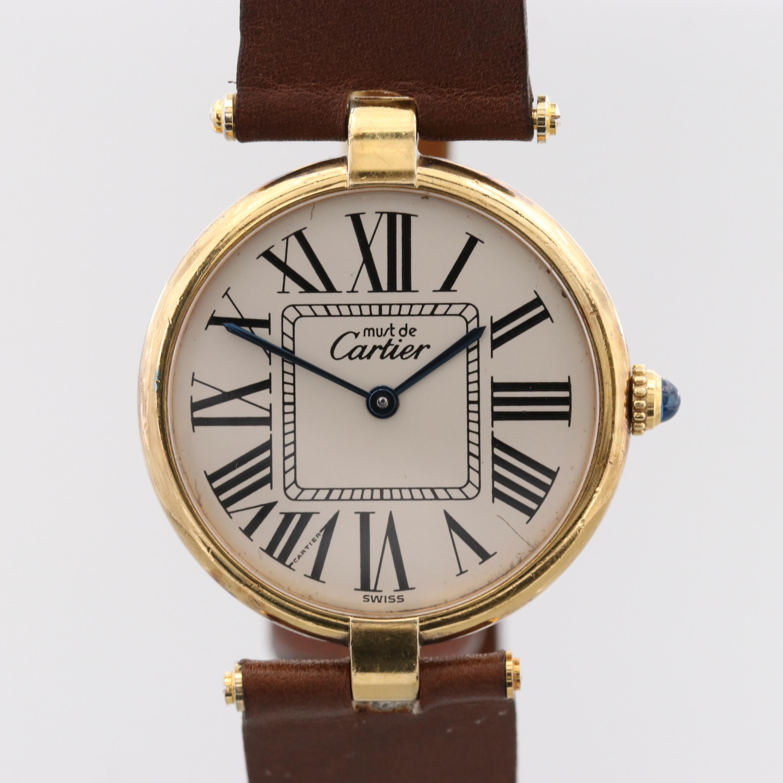 Must de Cartier Vermeil Quartz Wristwatch