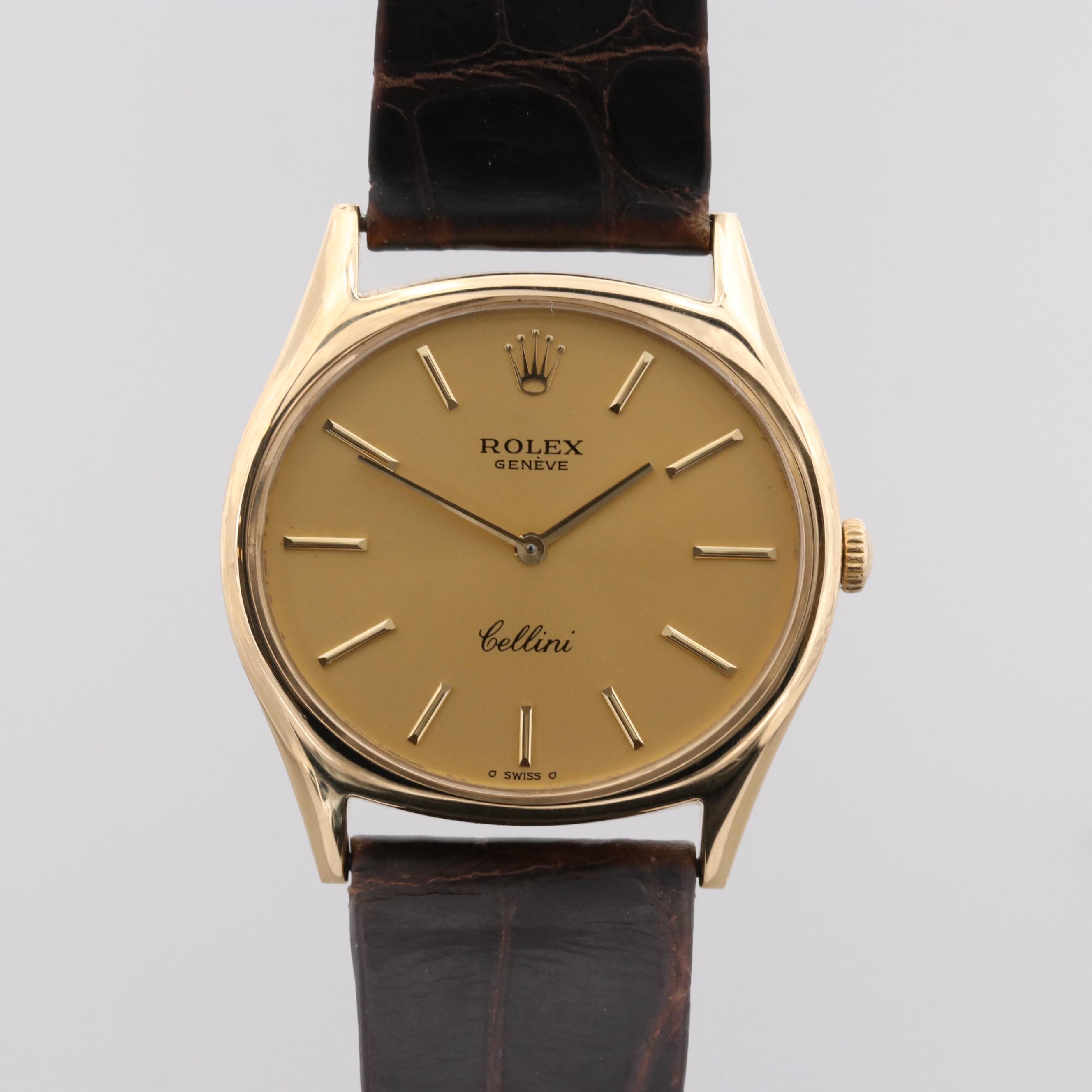 Rolex Cellini 18K Yellow Gold Wristwatch