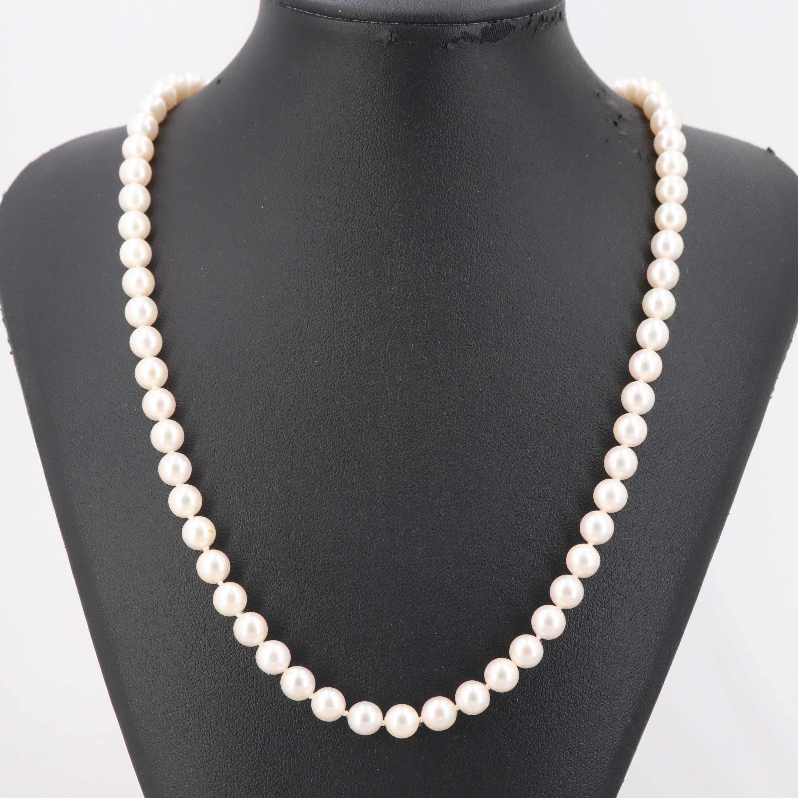 Blue Lagoon 14K Yellow Gold Cultured Pearl Hand-Knotted Necklace