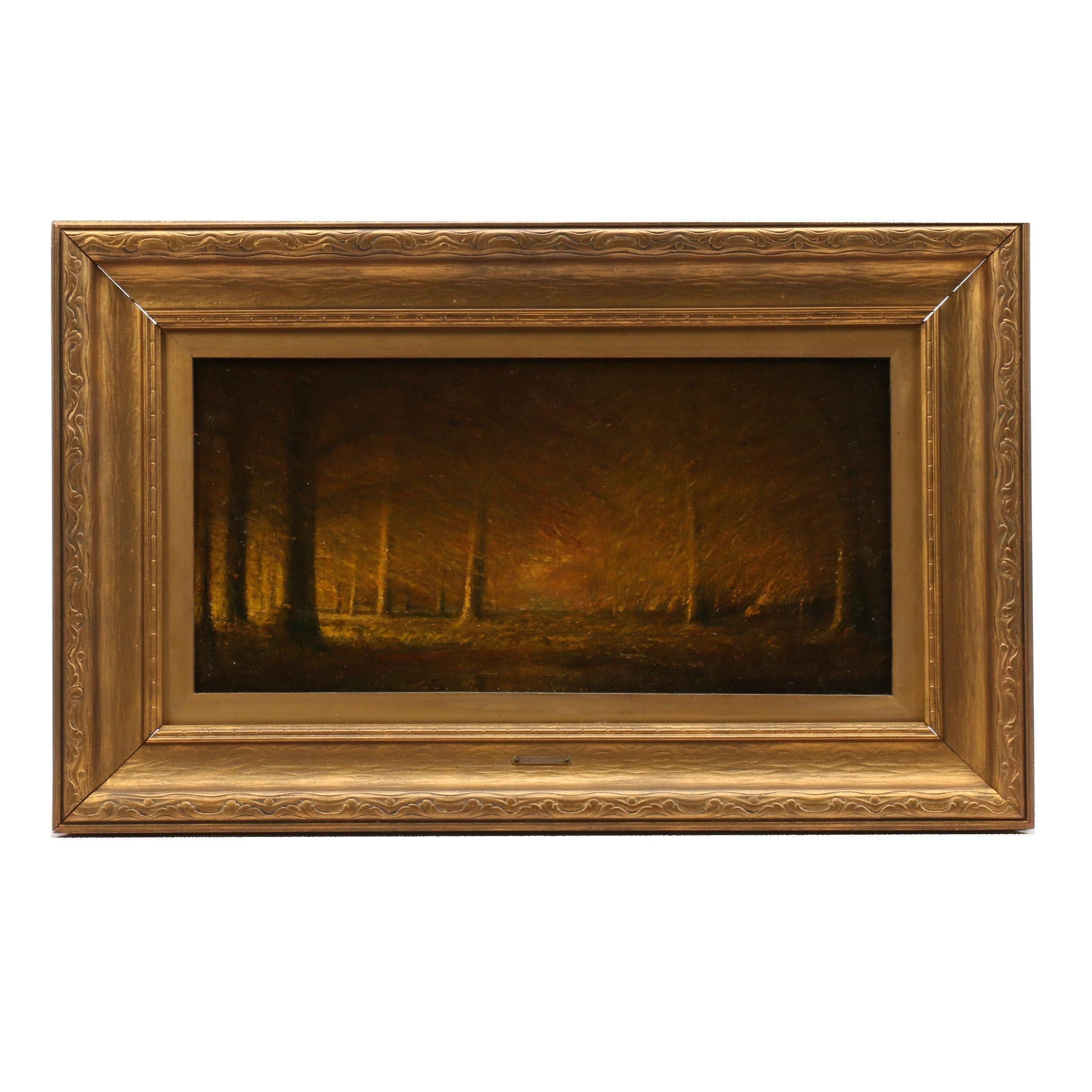 Harvey Joiner Landscape within Cherokee Park Oil Painting