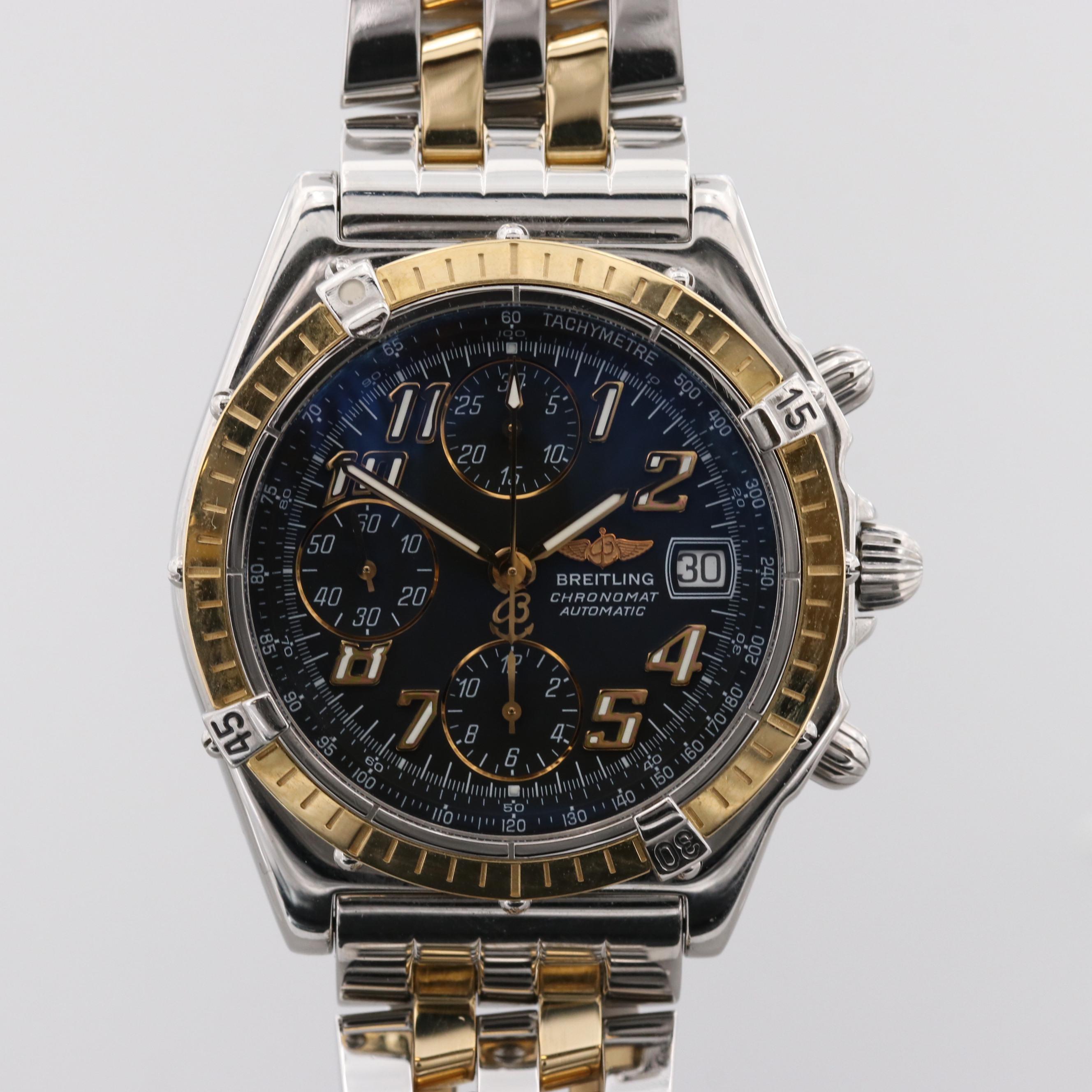 Breitling Chronomat Vitesse 18K Yellow Gold Automatic Wristwatch
