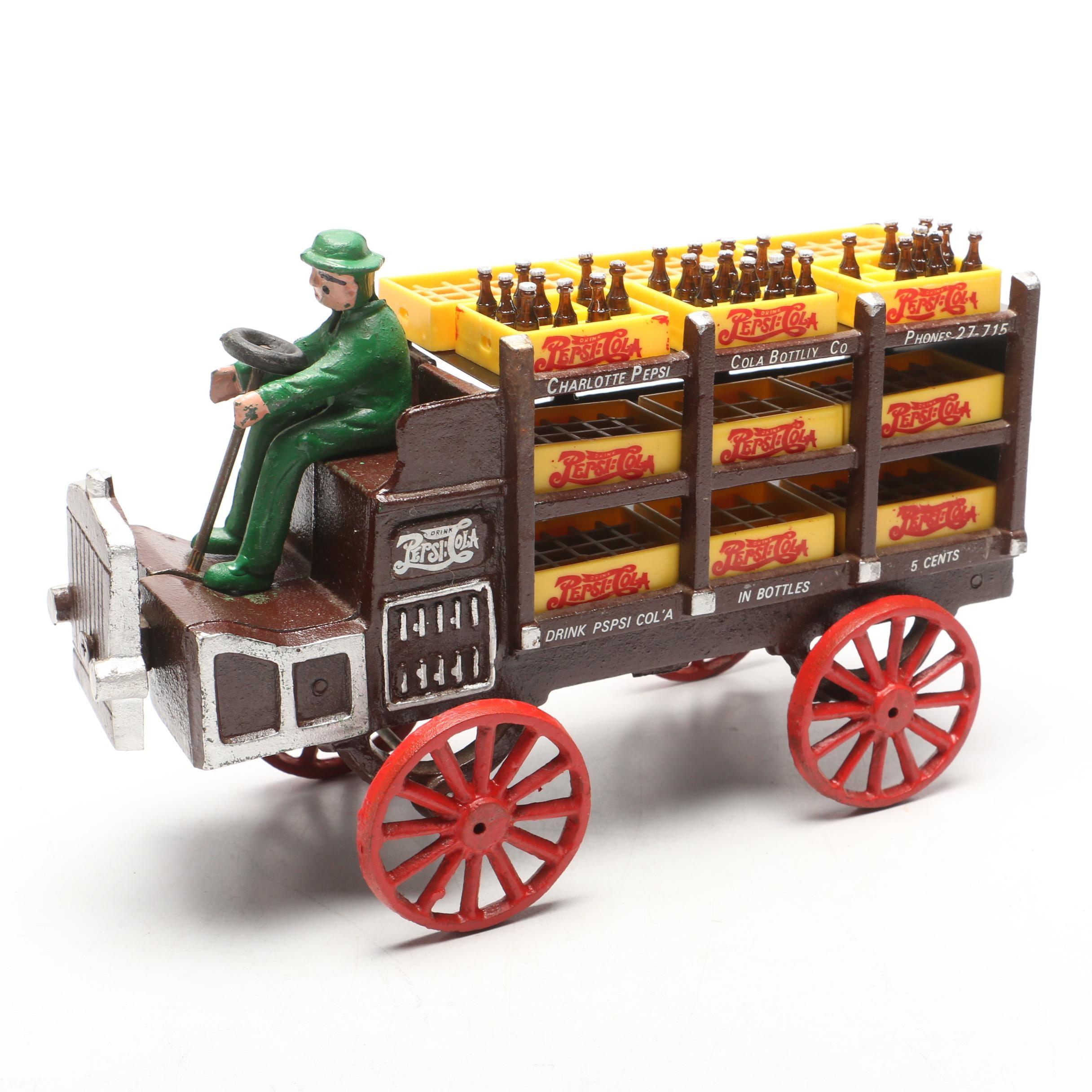 Vintage Reproduction Cast Iron Pepsi Cola Wagon
