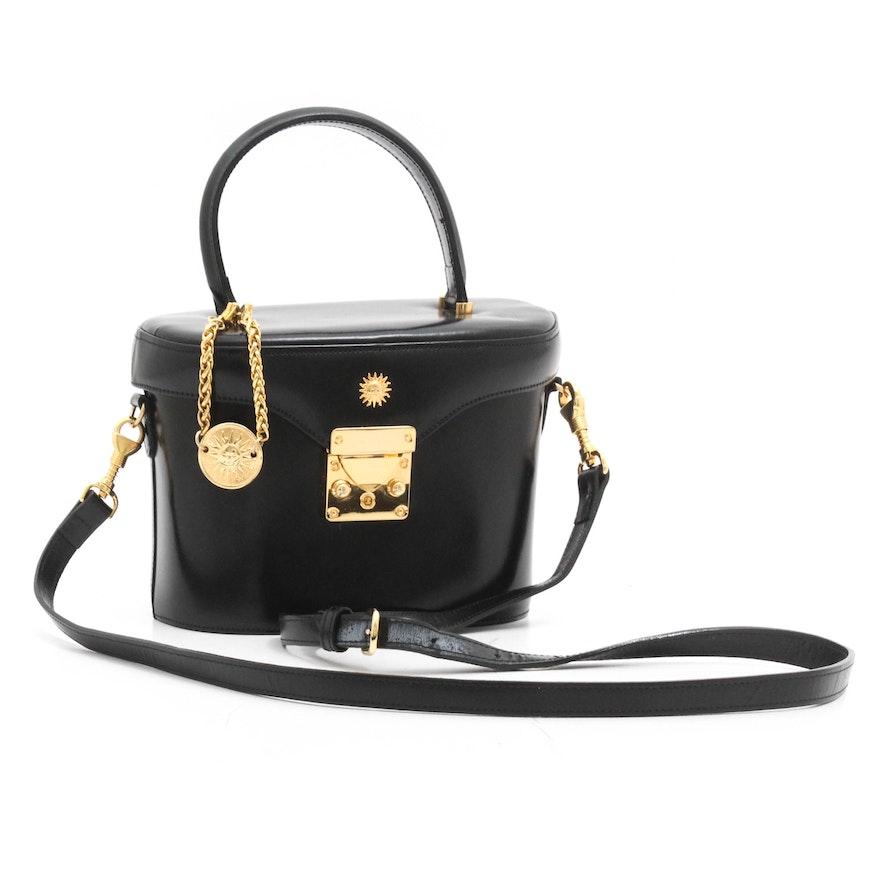 f753eeef311 Gianni Versace Vintage Leather Runway Crossbody Bag