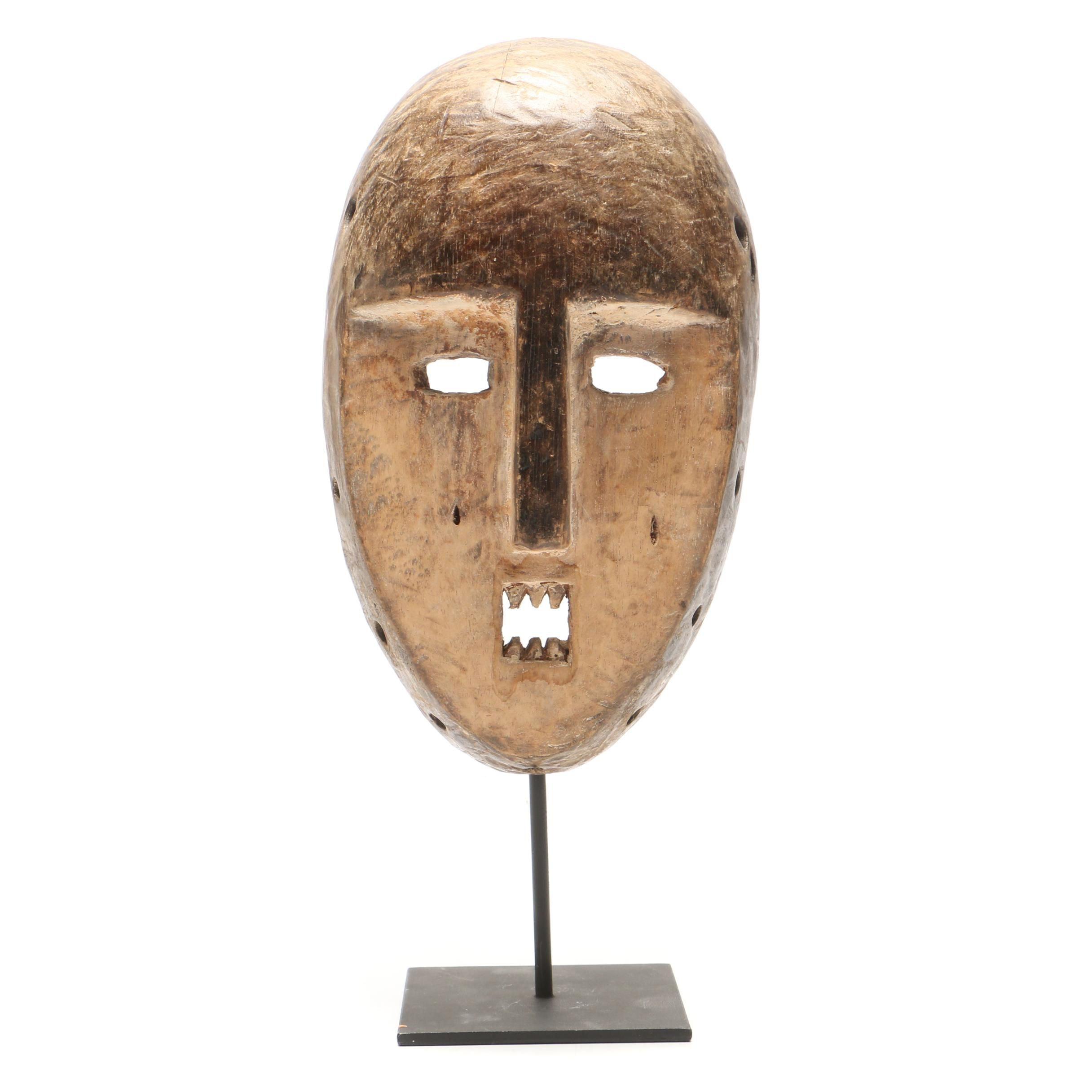 Lega/Kumu Style Carved Wood Mask