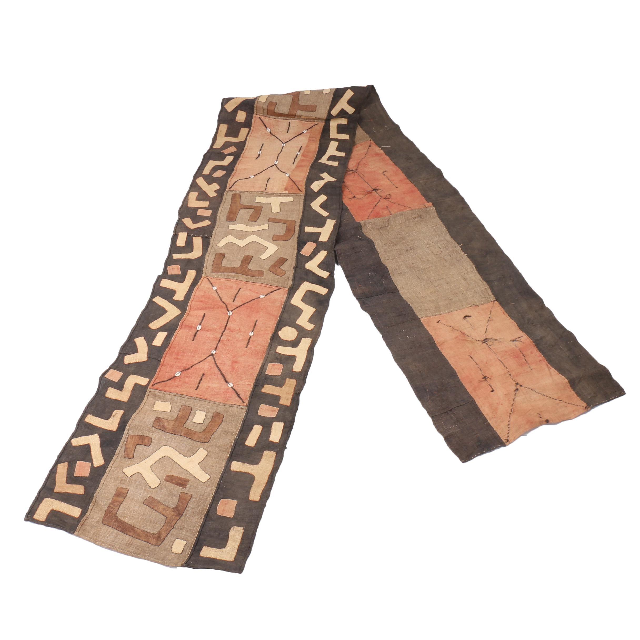 African Kuba Appliquéd Raffia Textile
