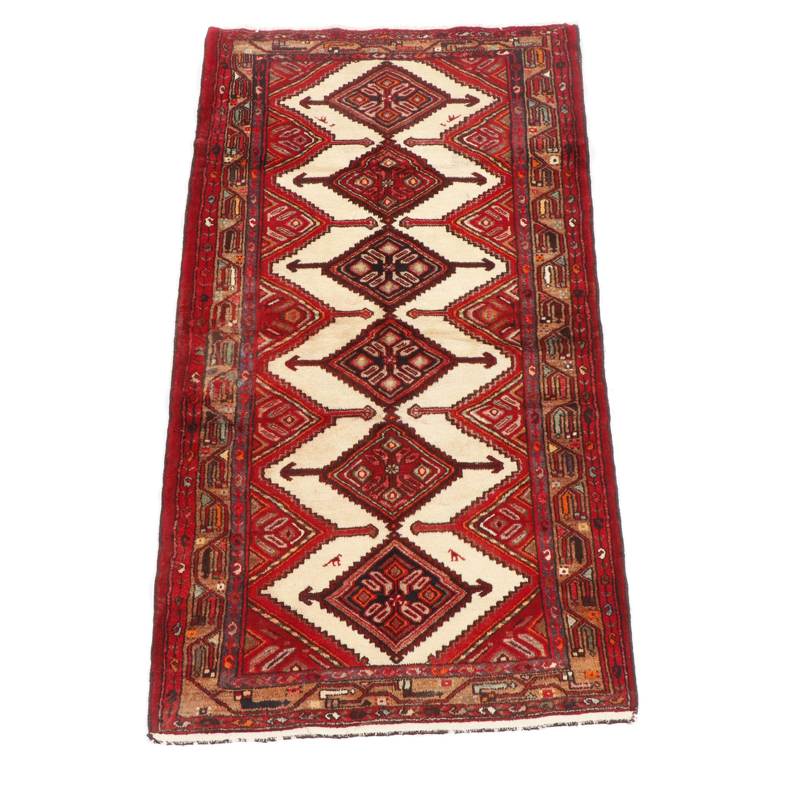 Hand-Knotted Persian Chenar Wool Rug