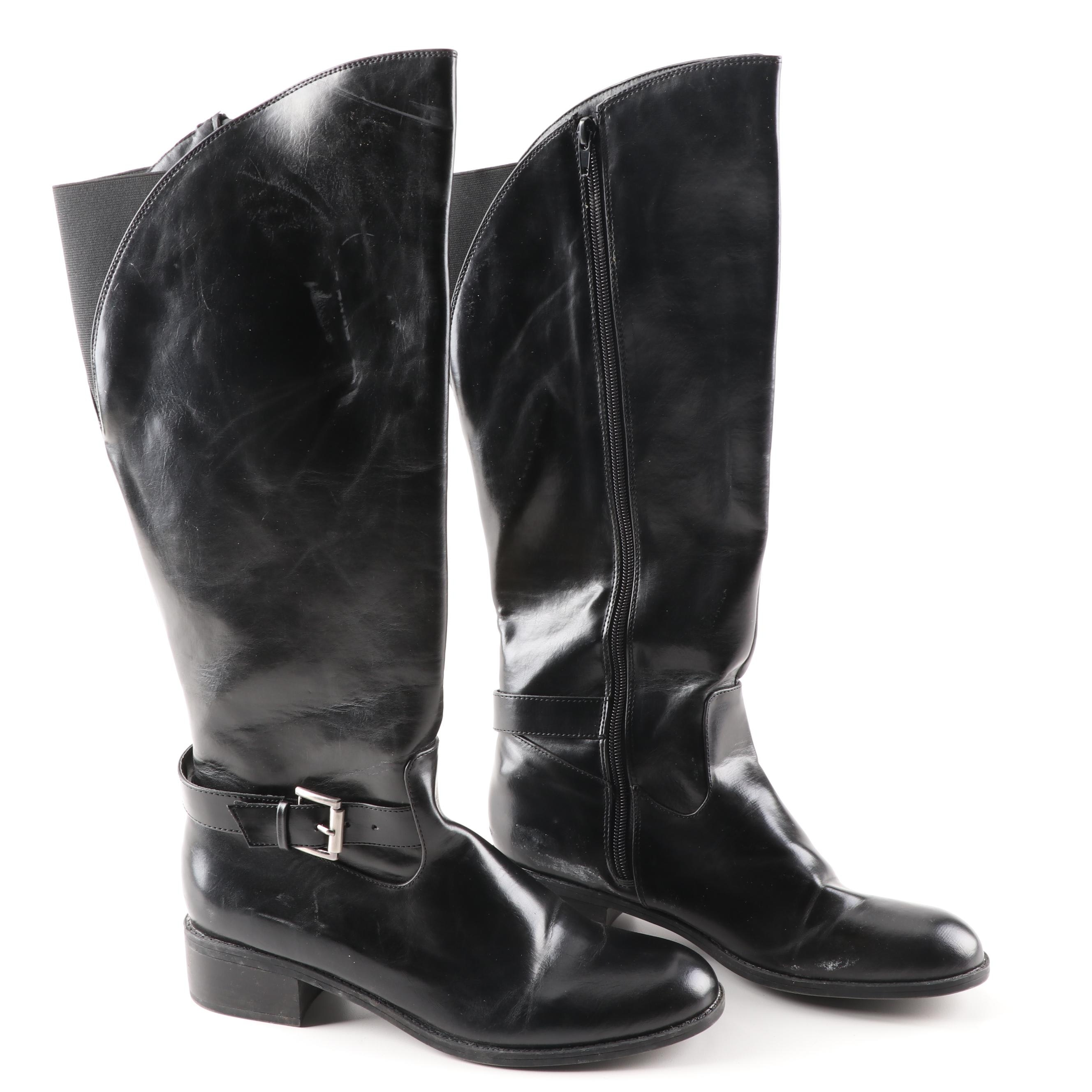 Sam & Libby Azeel Black Faux Leather Boots