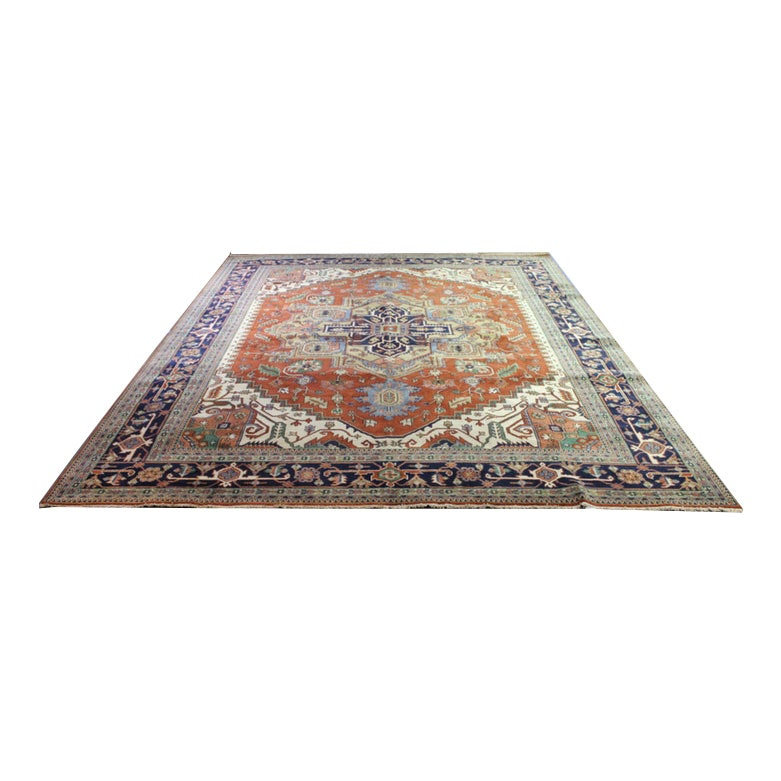 11'10 x 15'0 Hand-Knotted Indo-Persian Heriz Serapi Palace Size Rug
