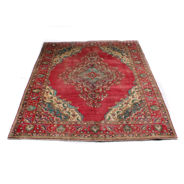6'9 x 9'7 Hand-Knotted Persian Tabriz Rug