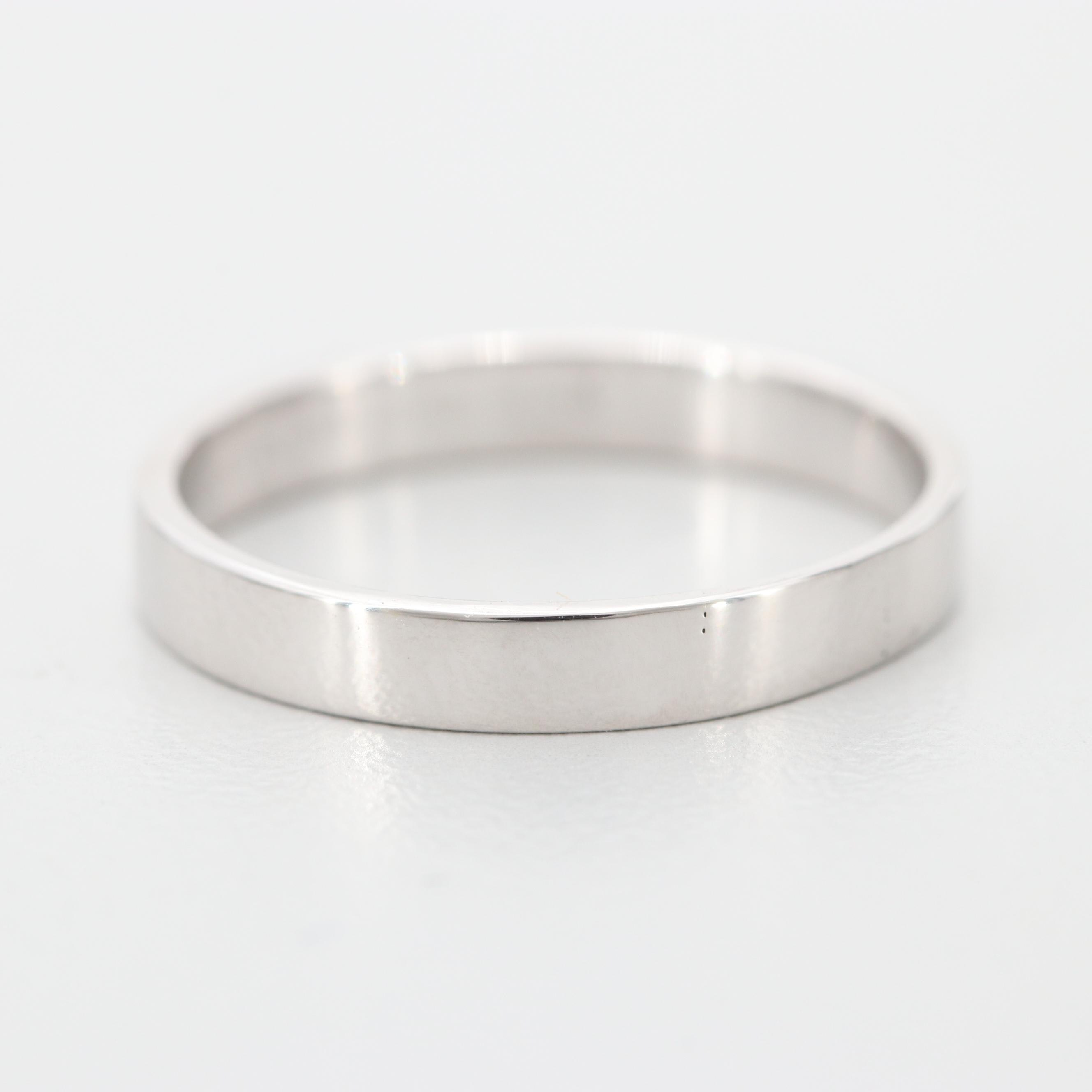 Benchmark 14K White Gold Band Ring