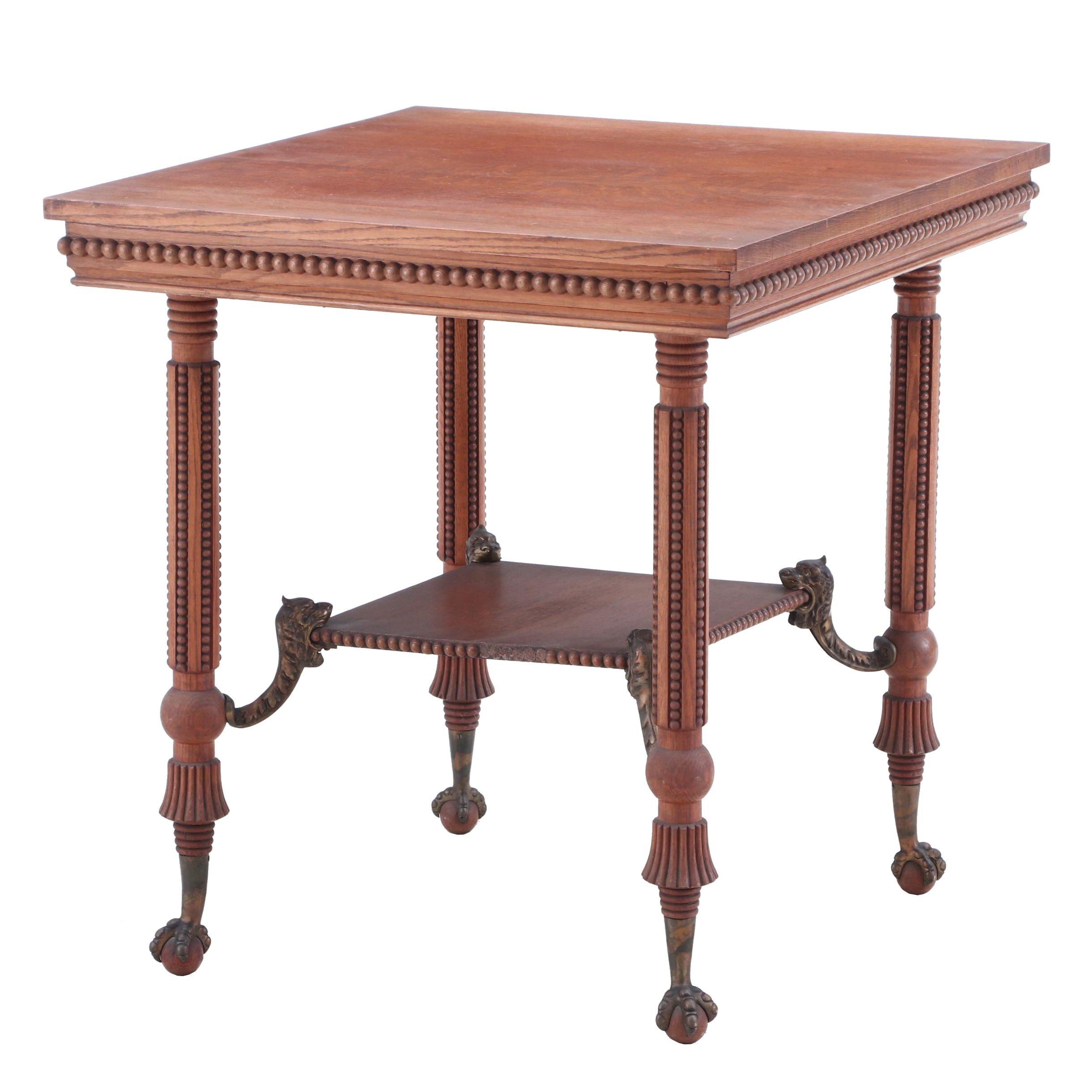Quarter Sawn Oak Accent Table