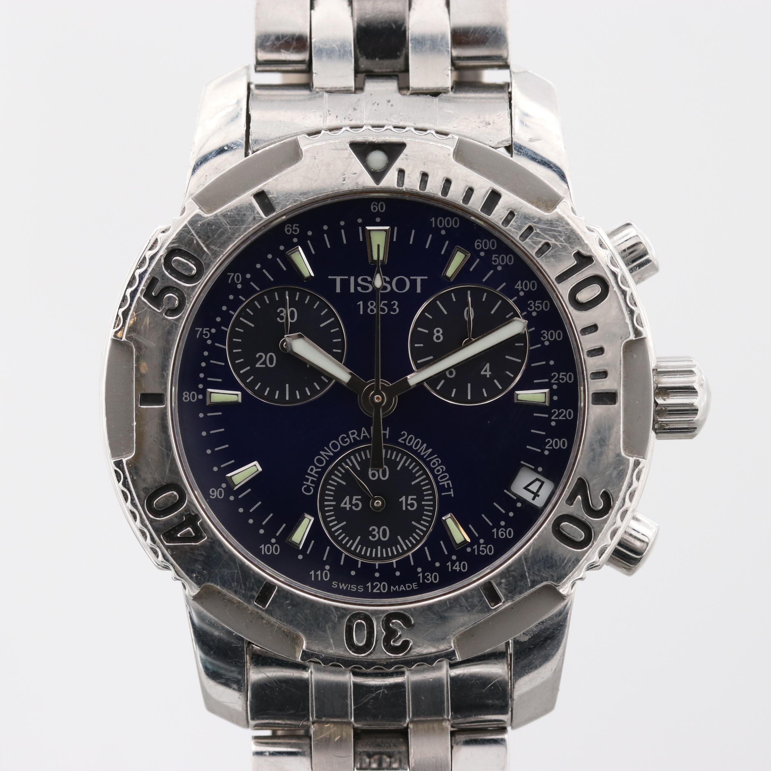 Tissot PR5200 Stainless Steel Quartz Chronograph Wristwatch