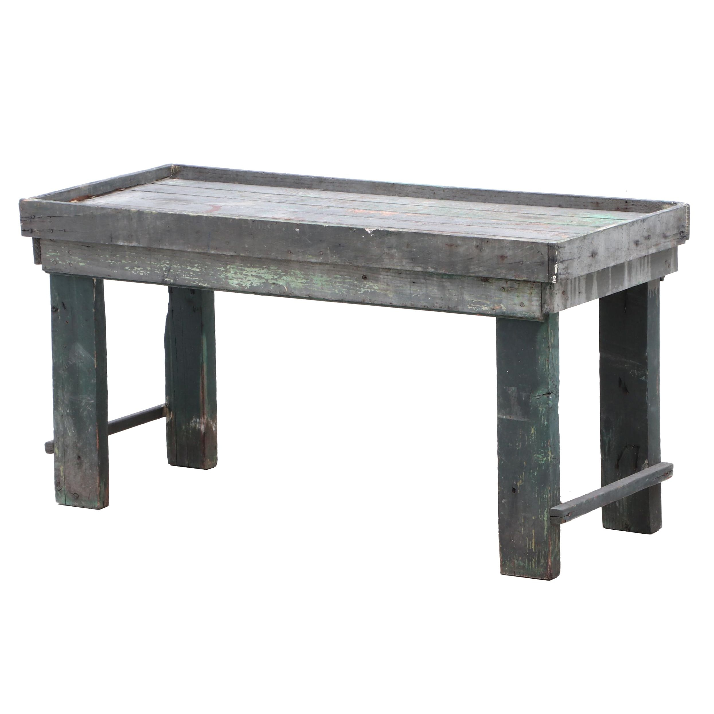 Vintage Rustic Outdoor Accent Table
